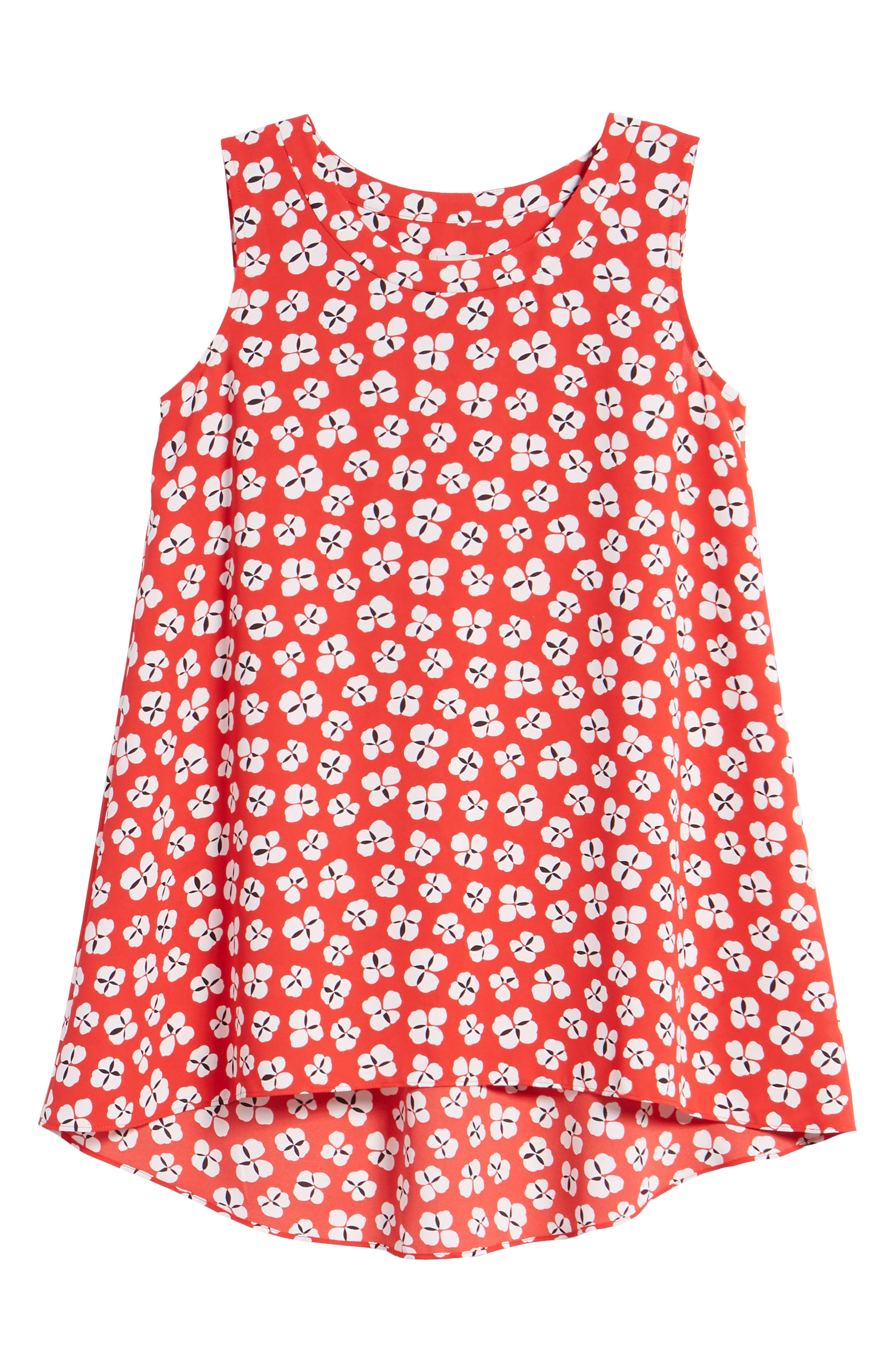 Floral High/Low Swing Top,                             Alternate thumbnail 6, color,