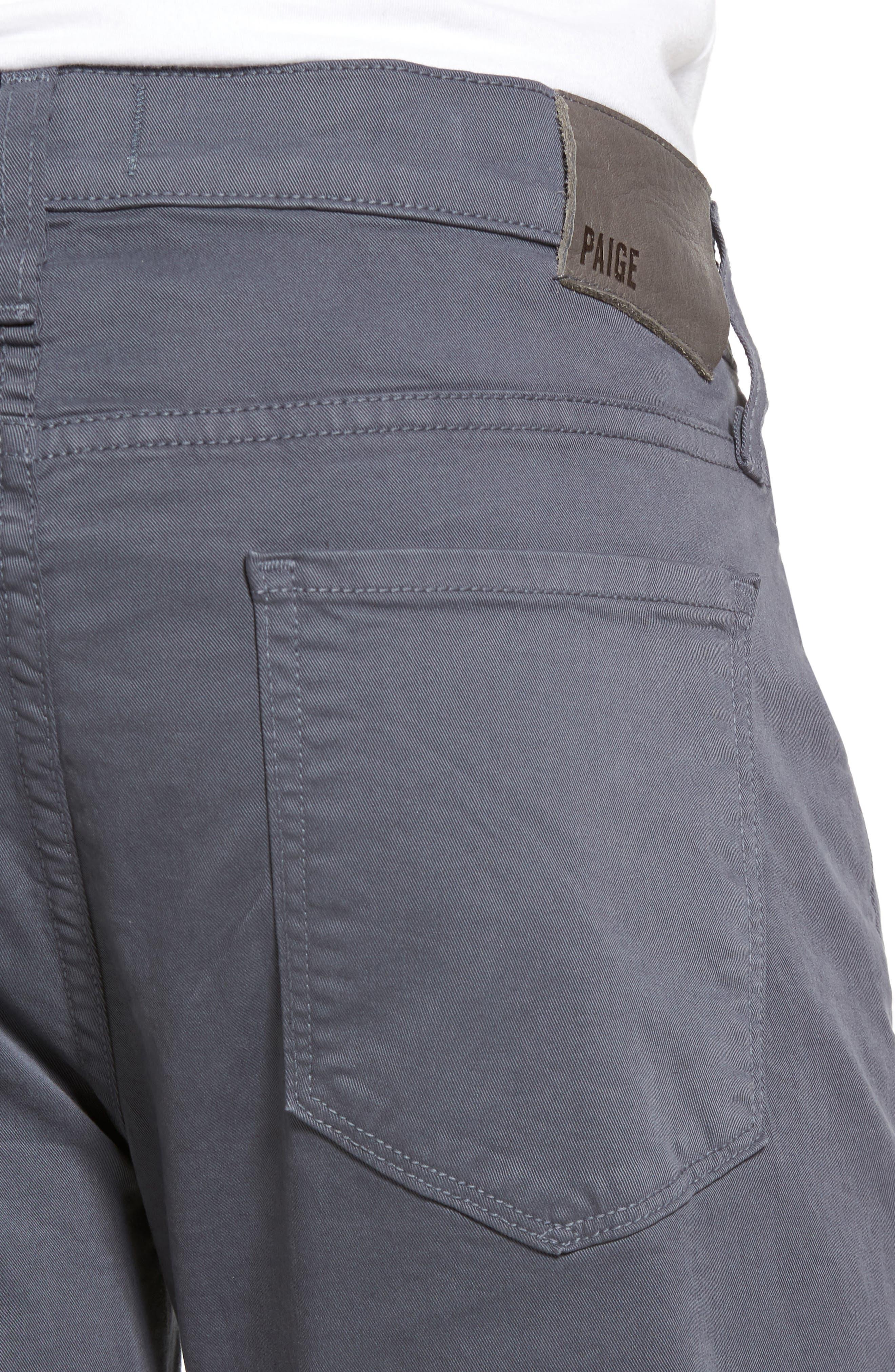Federal Slim Straight Leg Twill Pants,                             Alternate thumbnail 4, color,                             MOON SHADE