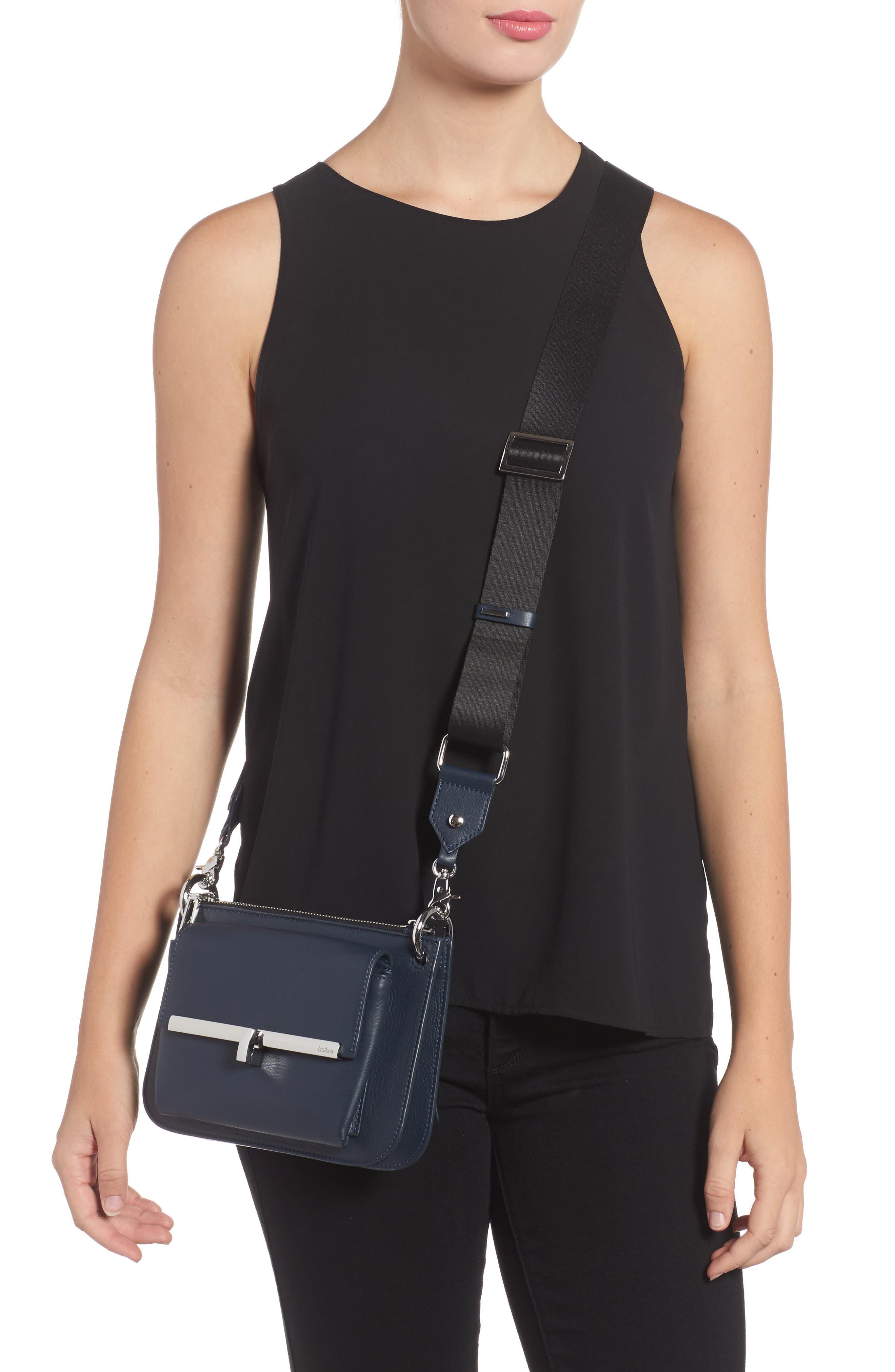 Bleeker Leather Double Shoulder Bag,                             Alternate thumbnail 10, color,
