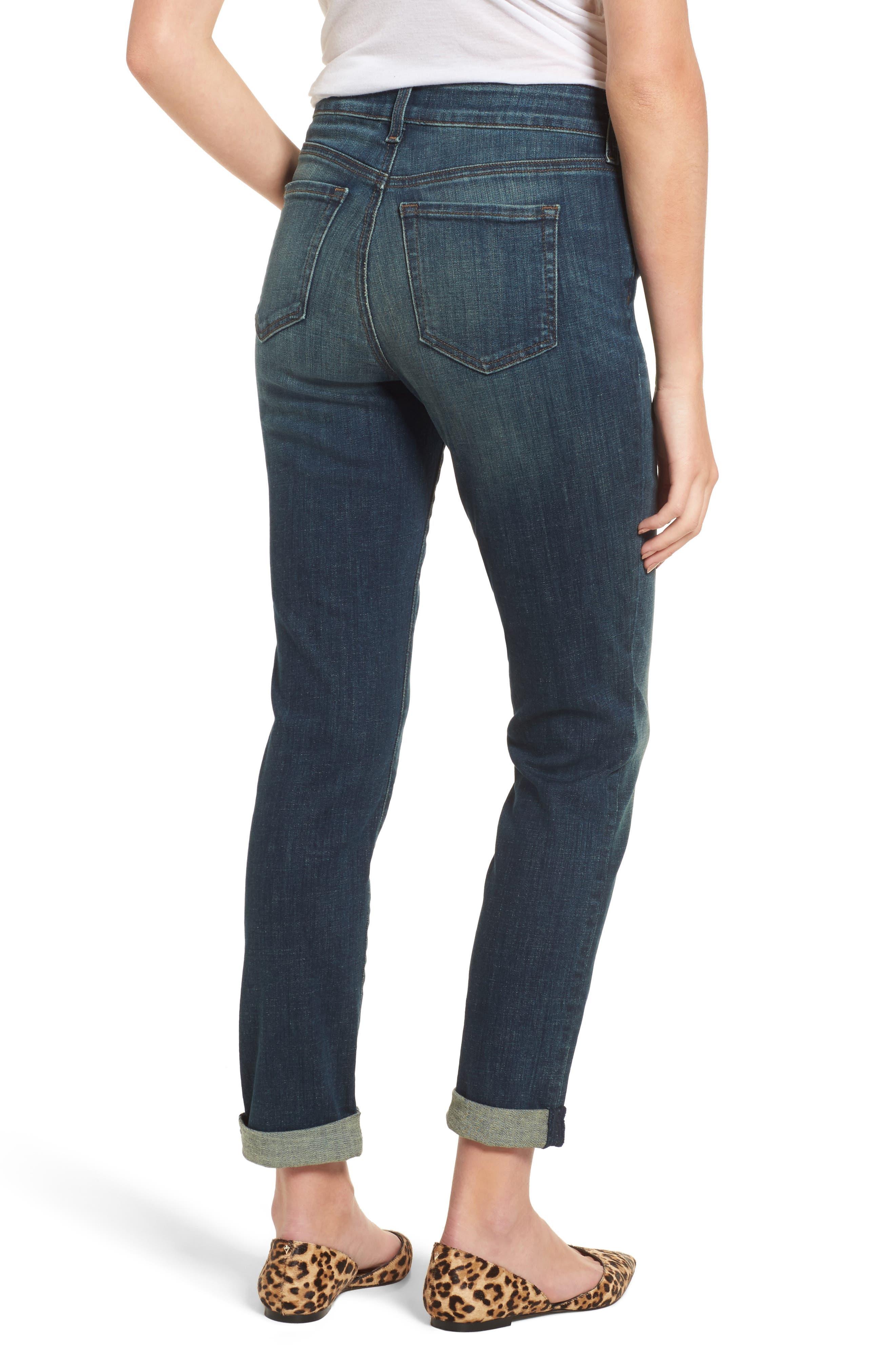 Stretch Boyfriend Jeans,                             Alternate thumbnail 4, color,