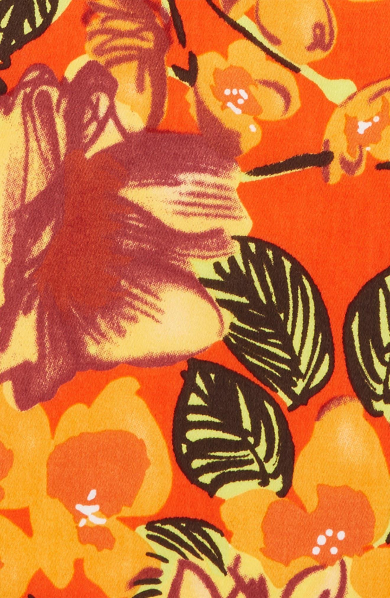 Orange Tree Cotton Pocket Square,                             Alternate thumbnail 3, color,                             800