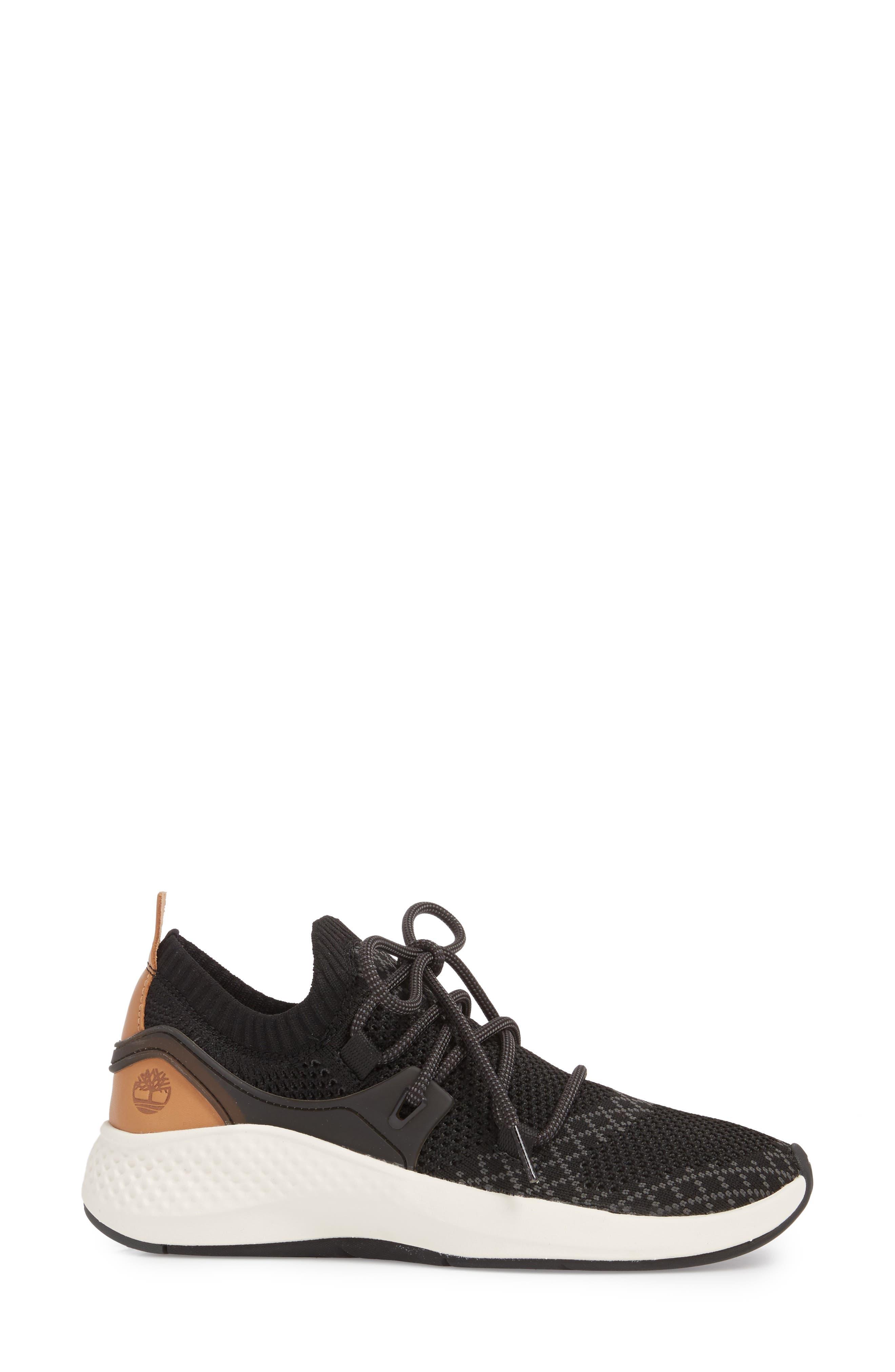 TIMBERLAND,                             FlyRoam Go Knit Sneaker,                             Alternate thumbnail 3, color,                             001