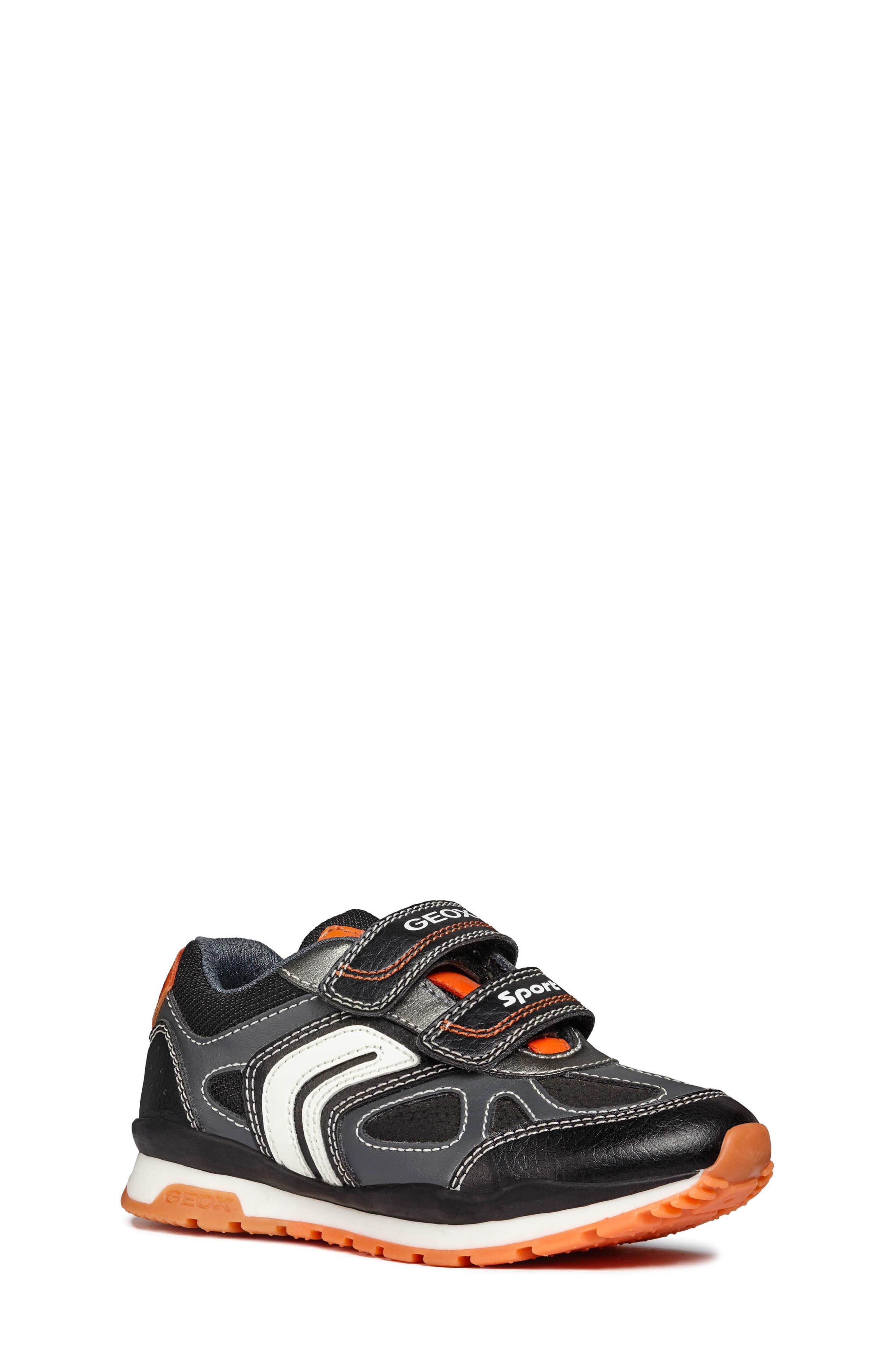 Pavel Sneaker,                         Main,                         color, DARK GREY/ORANGE