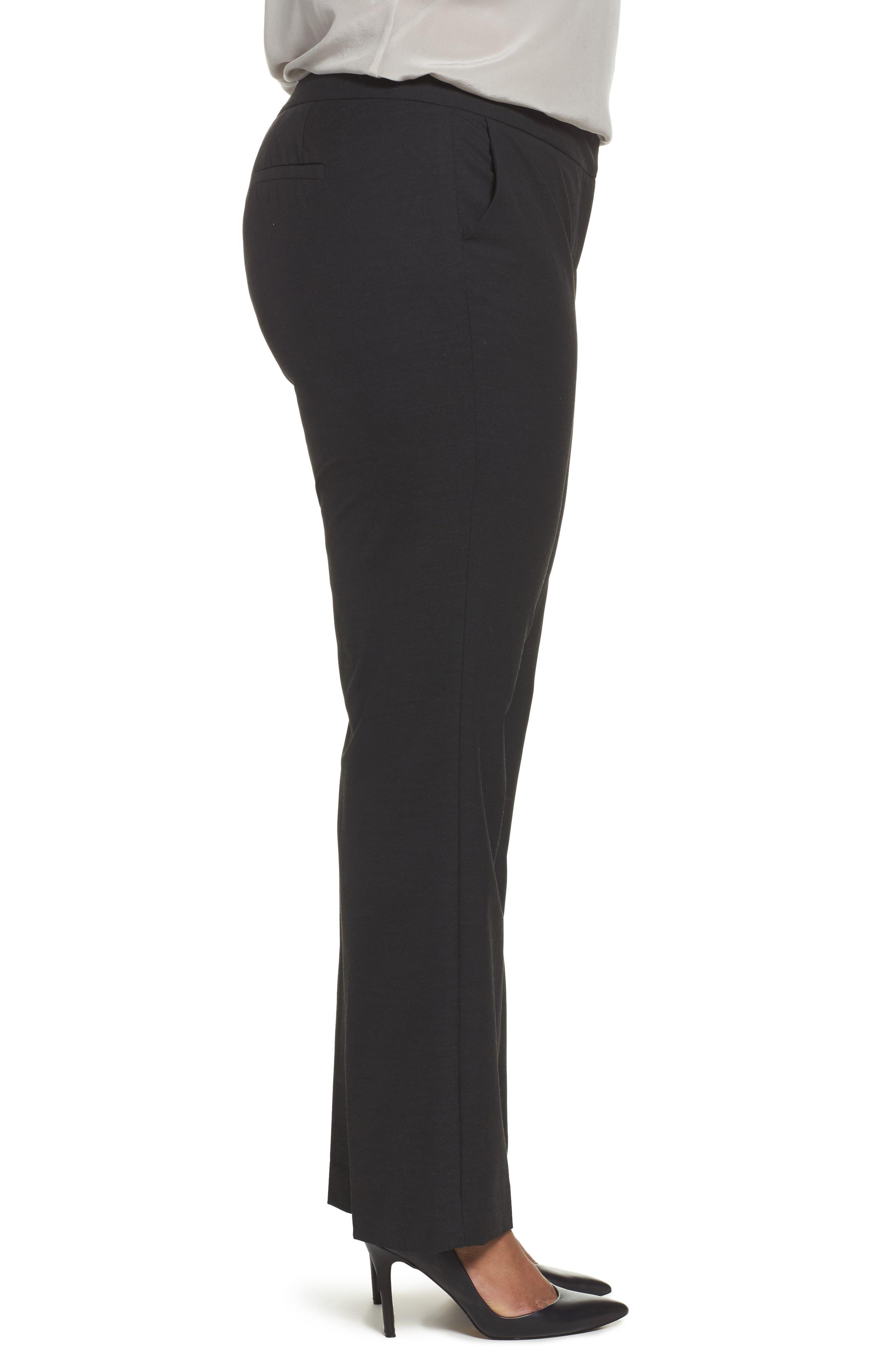 'Ela' Stretch Curvy Fit Wide Leg Suit Pants,                             Alternate thumbnail 3, color,                             022