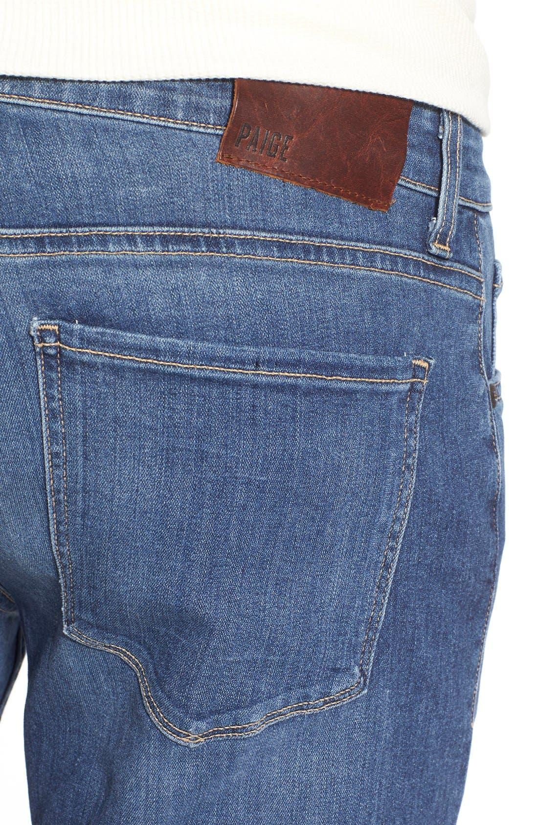PAIGE,                             Transcend - Normandie Straight Leg Jeans,                             Alternate thumbnail 4, color,                             BIRCH