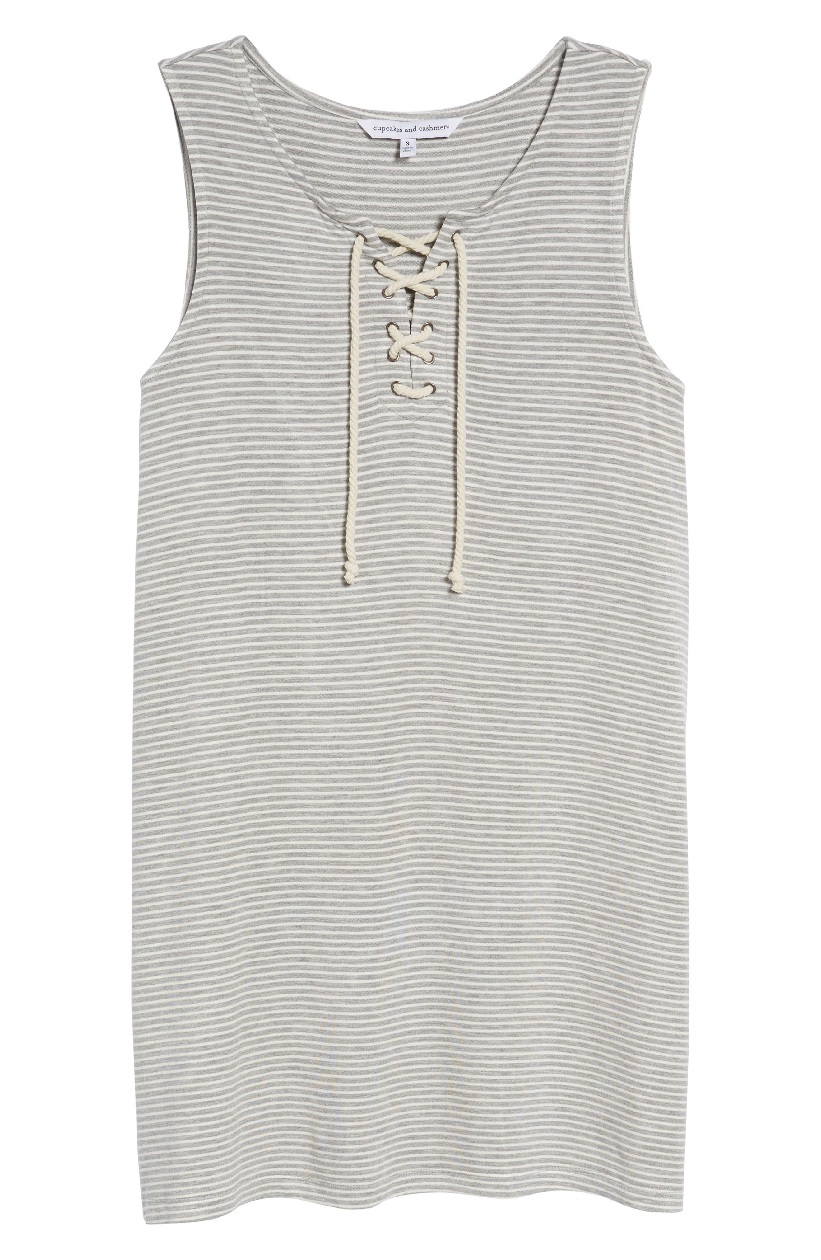 Dedrick Stripe Shift Dress,                             Alternate thumbnail 7, color,                             050