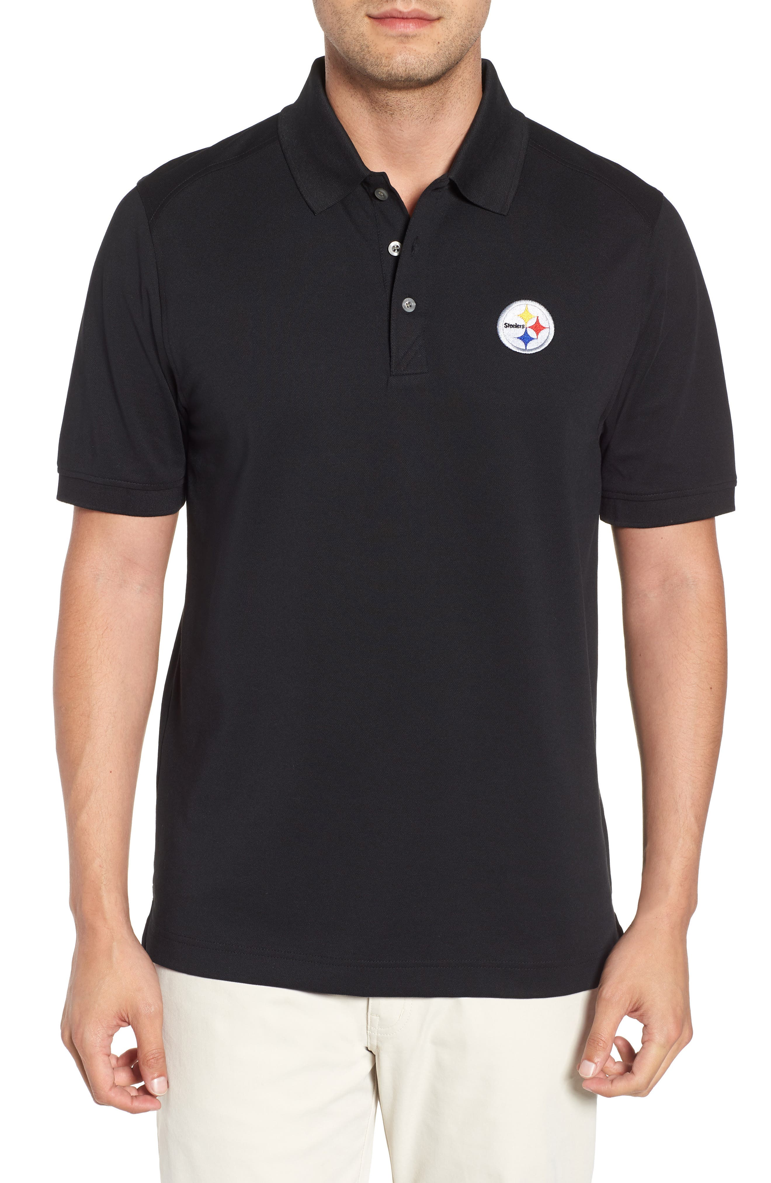 Pittsburgh Steelers - Advantage Regular Fit DryTec Polo,                             Main thumbnail 1, color,                             001