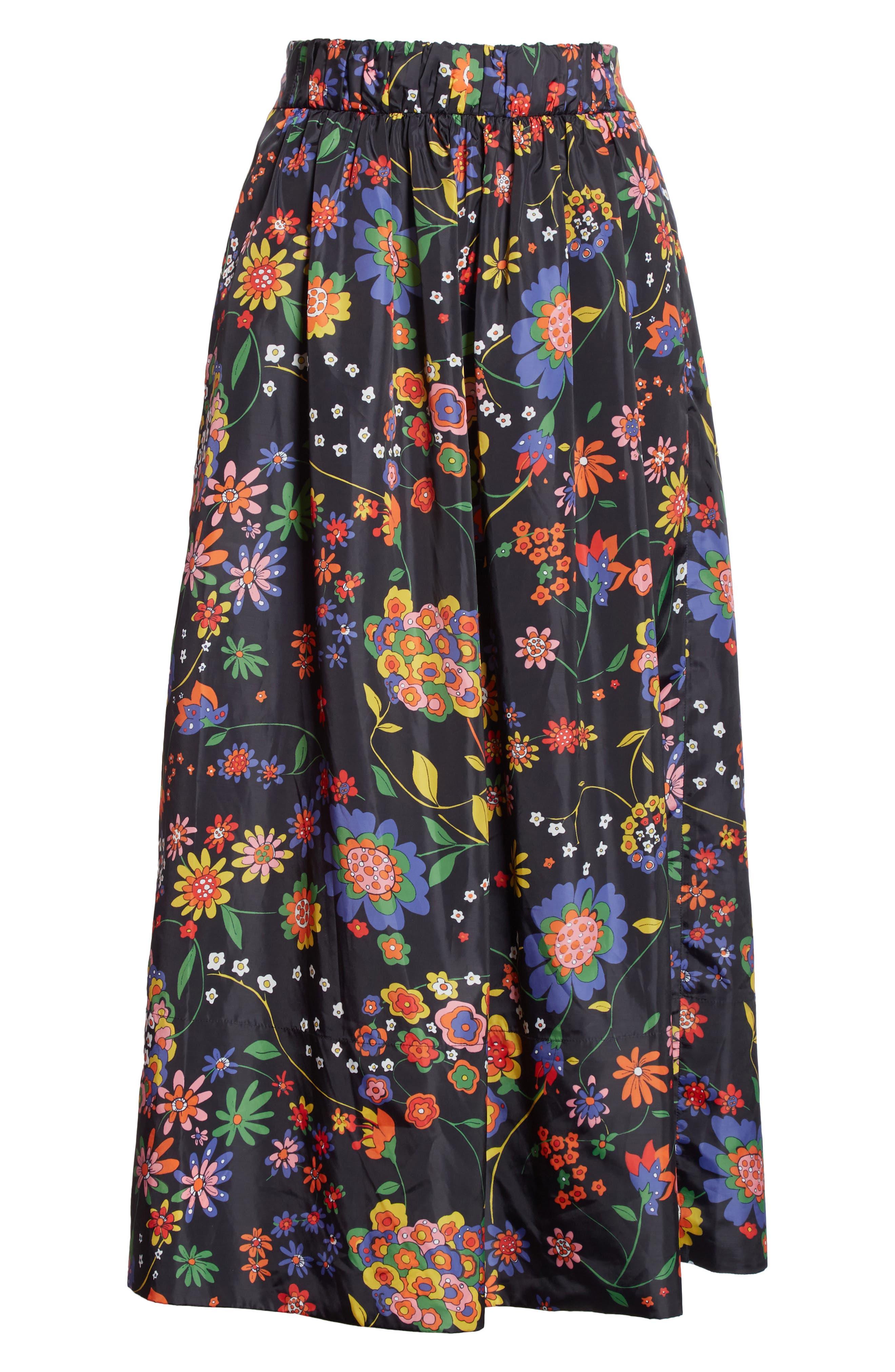 Print Tech Floral Skirt,                             Alternate thumbnail 6, color,                             402