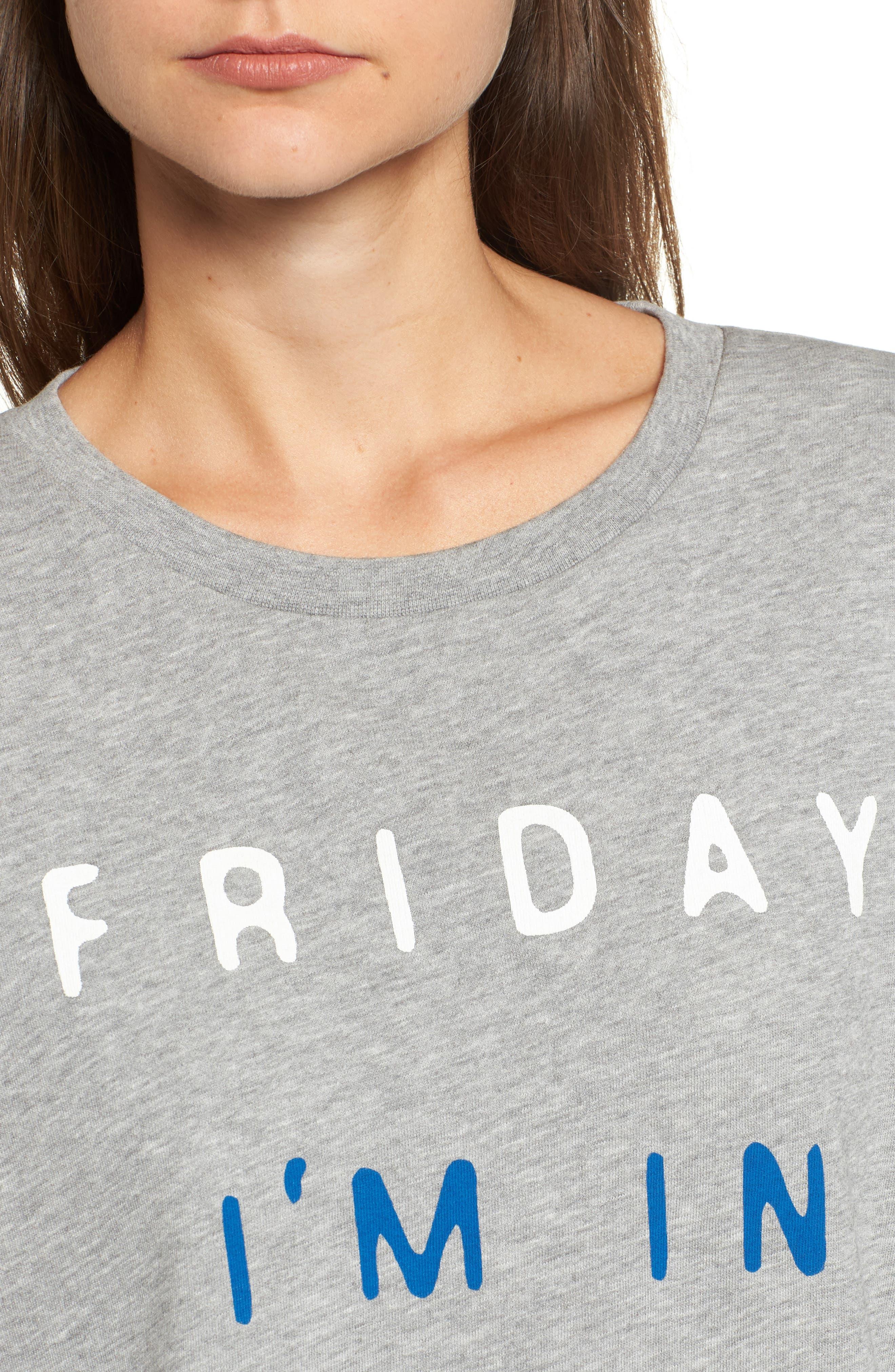 Friday I'm In Love Sweatshirt,                             Alternate thumbnail 4, color,                             020