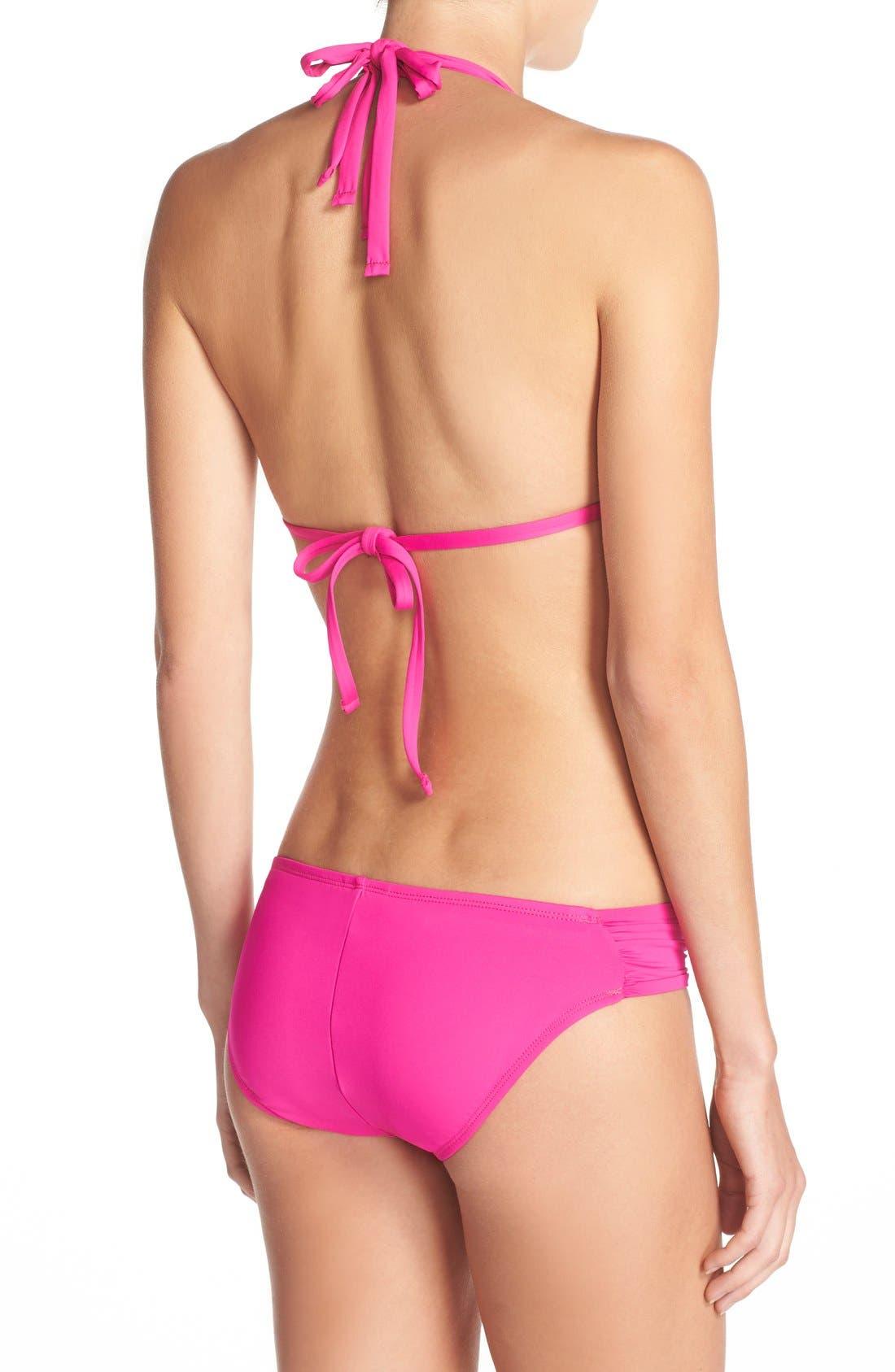 Island Blanca Halter Bikini Top,                             Alternate thumbnail 24, color,