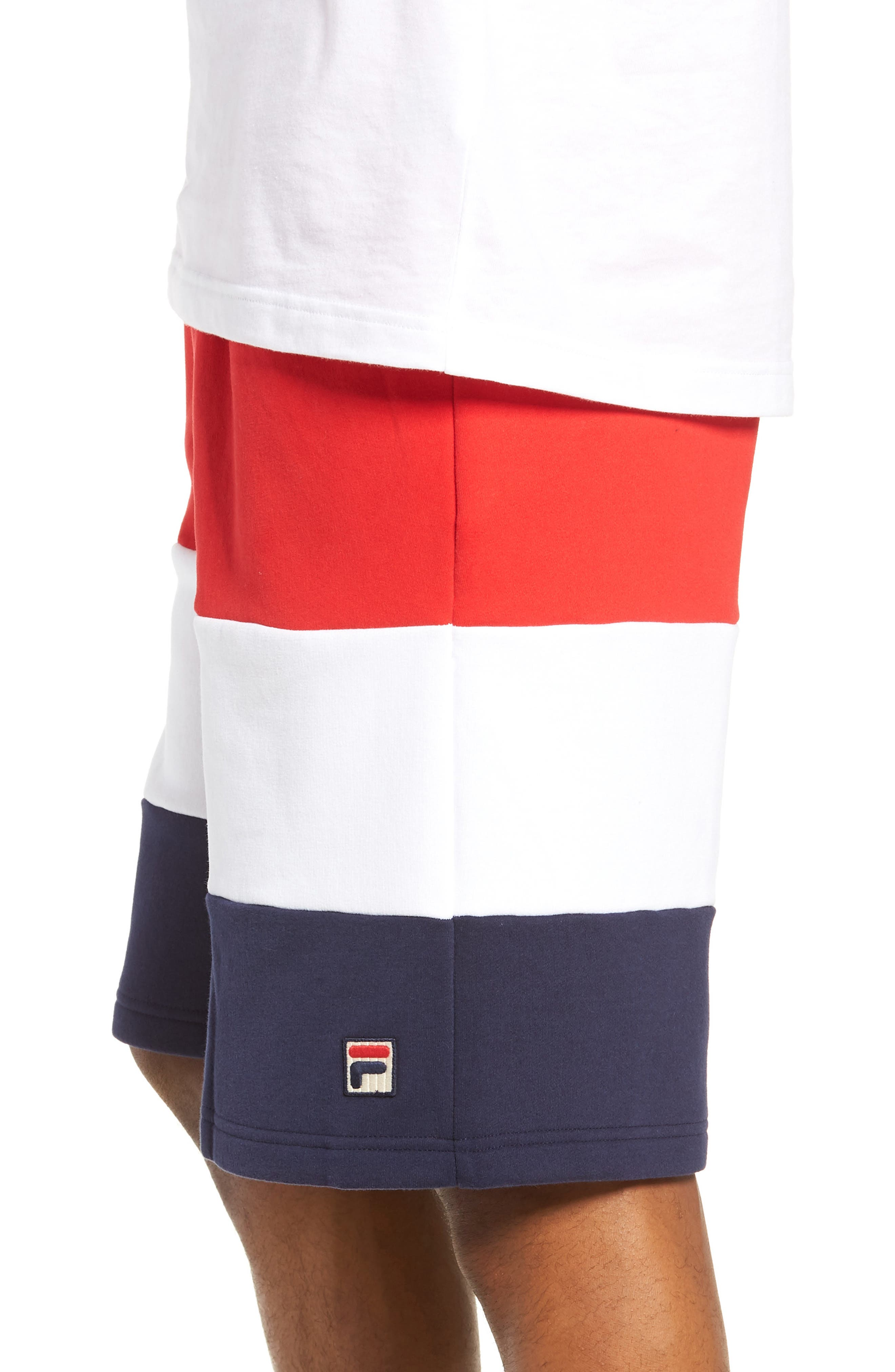 Alanzo Shorts,                             Alternate thumbnail 3, color,                             CHINESE RED/ WHITE/ NAVY
