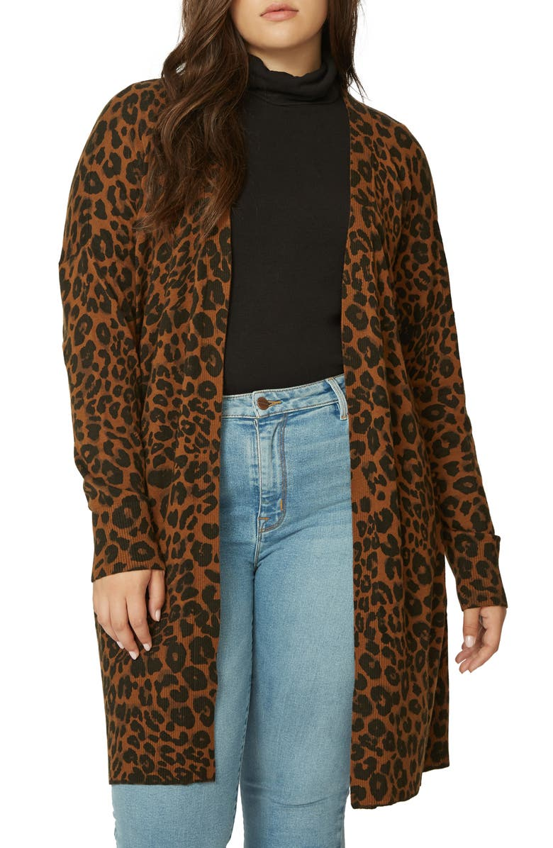 fc46a9464b4 Sanctuary Lenox Leopard Print Long Cardigan (Plus Size)