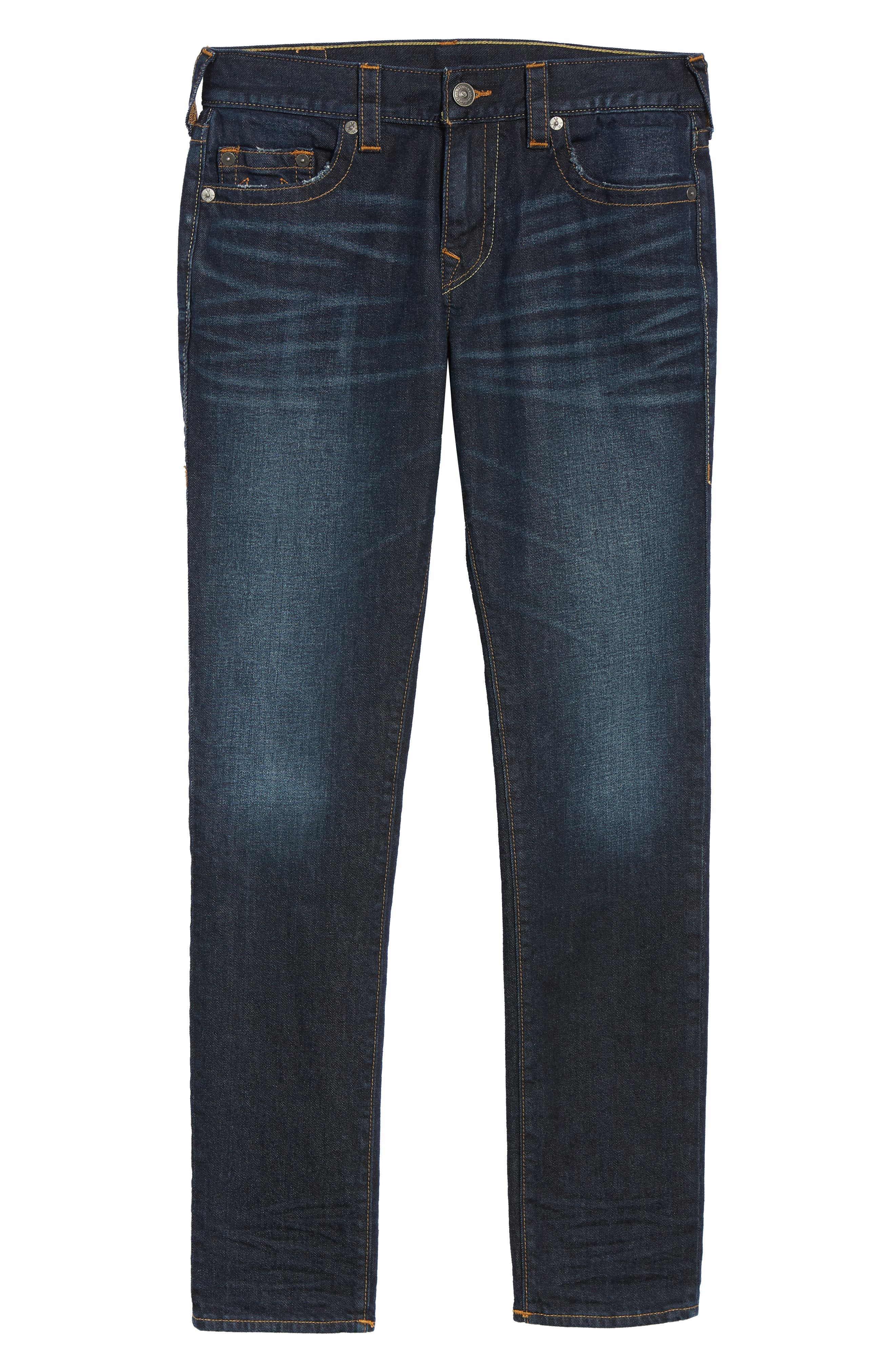 Rocco Skinny Fit Jeans,                             Alternate thumbnail 6, color,                             DARK TUNNEL