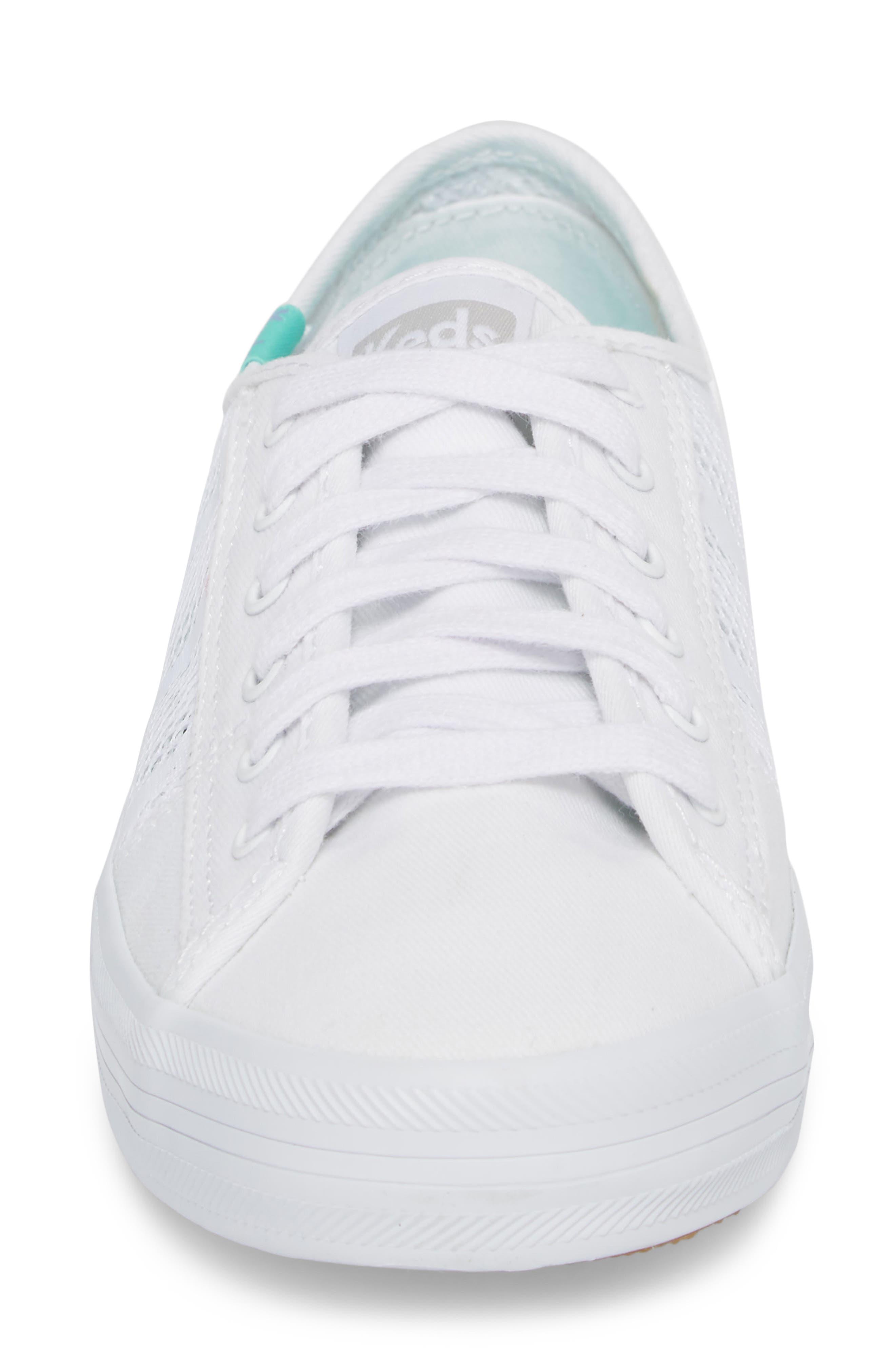 Kickstart Stripe Mesh Sneaker,                             Alternate thumbnail 4, color,                             100