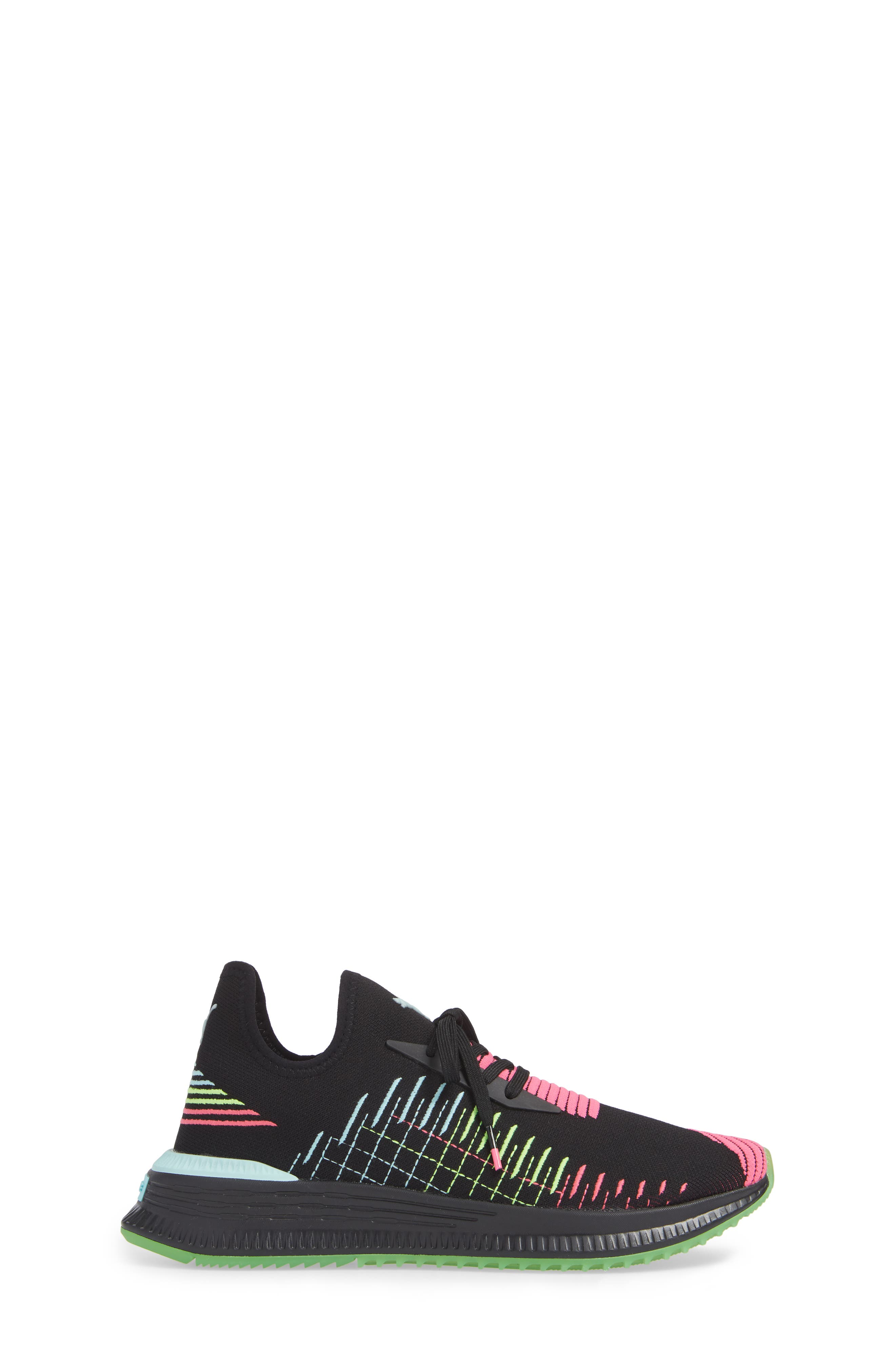 AVID EvoKNIT Sneaker,                             Alternate thumbnail 3, color,                             BLACK/ PINK/ ISLAND PARADISE