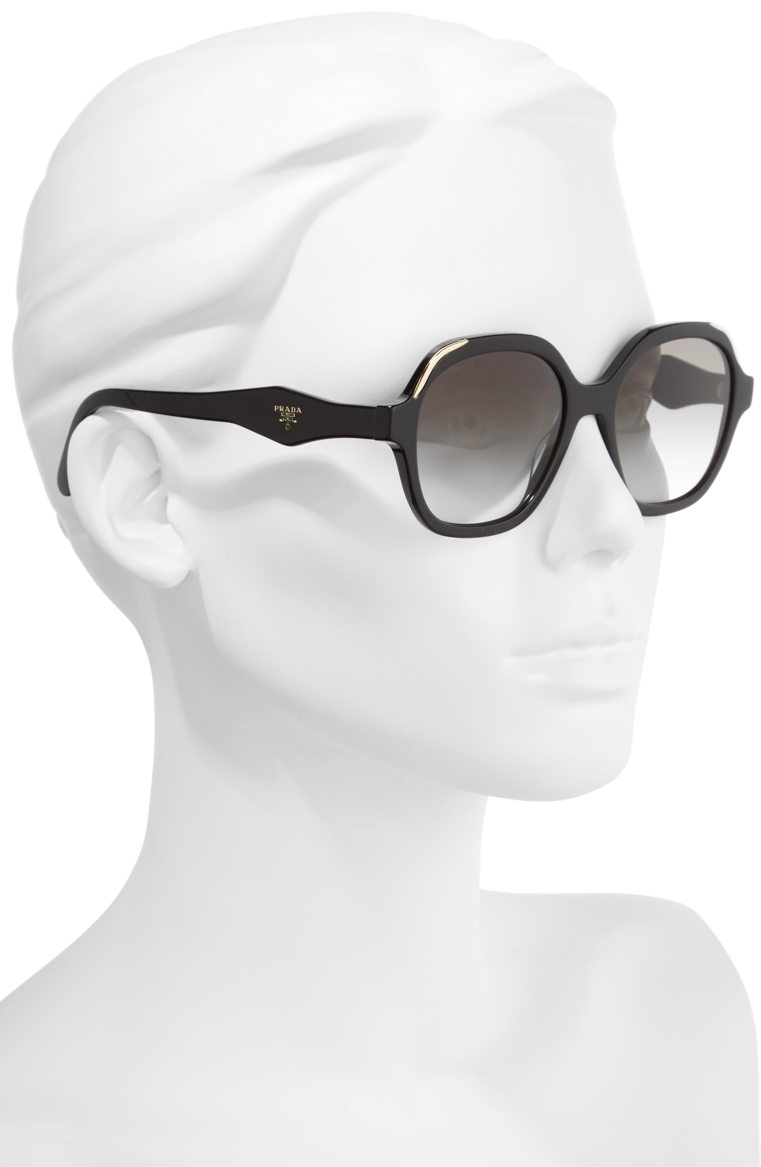 52mm Geometric Gradient Sunglasses,                             Alternate thumbnail 5, color,
