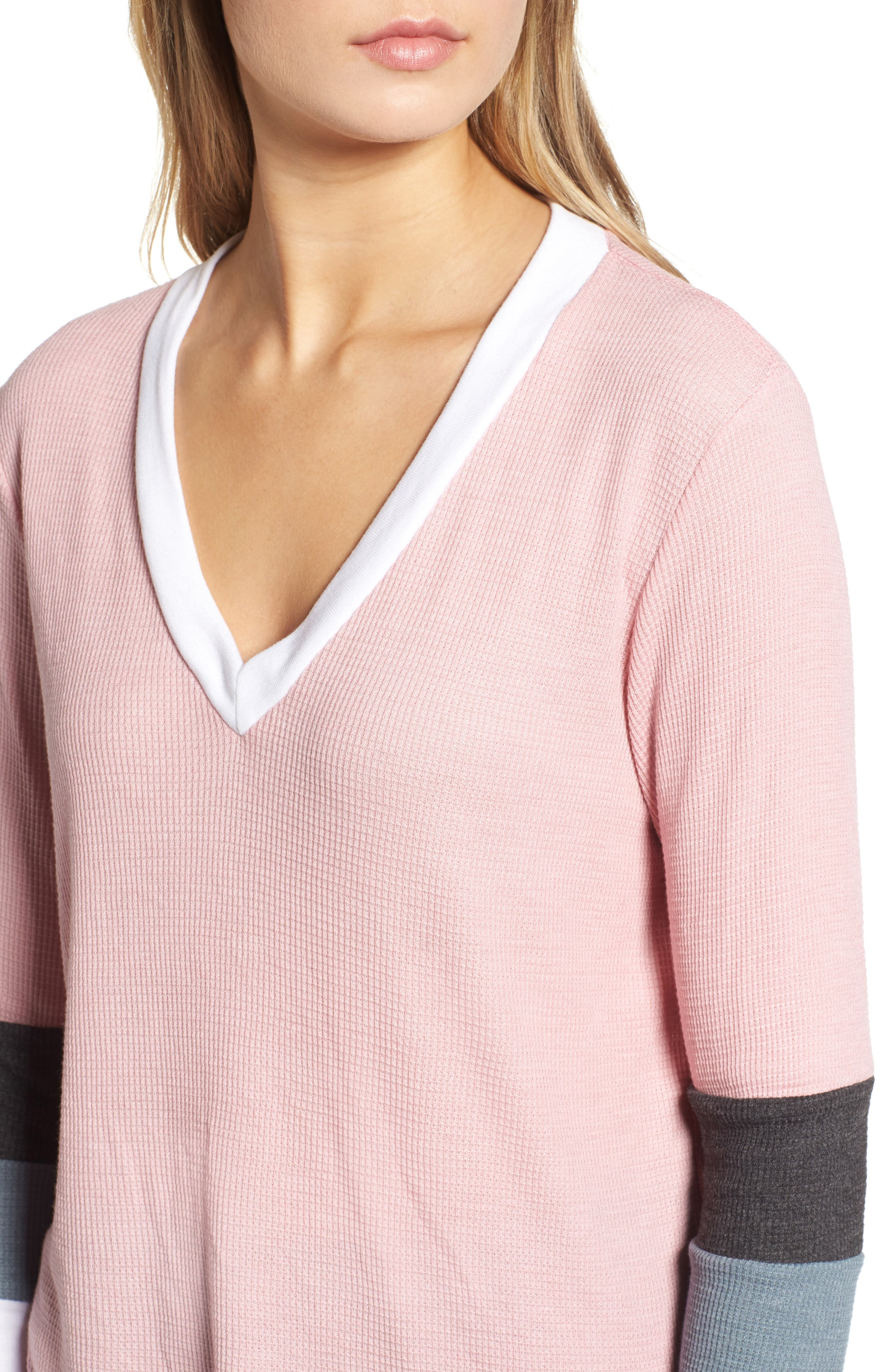 Leroy Colorblock Thermal Tee,                             Alternate thumbnail 4, color,