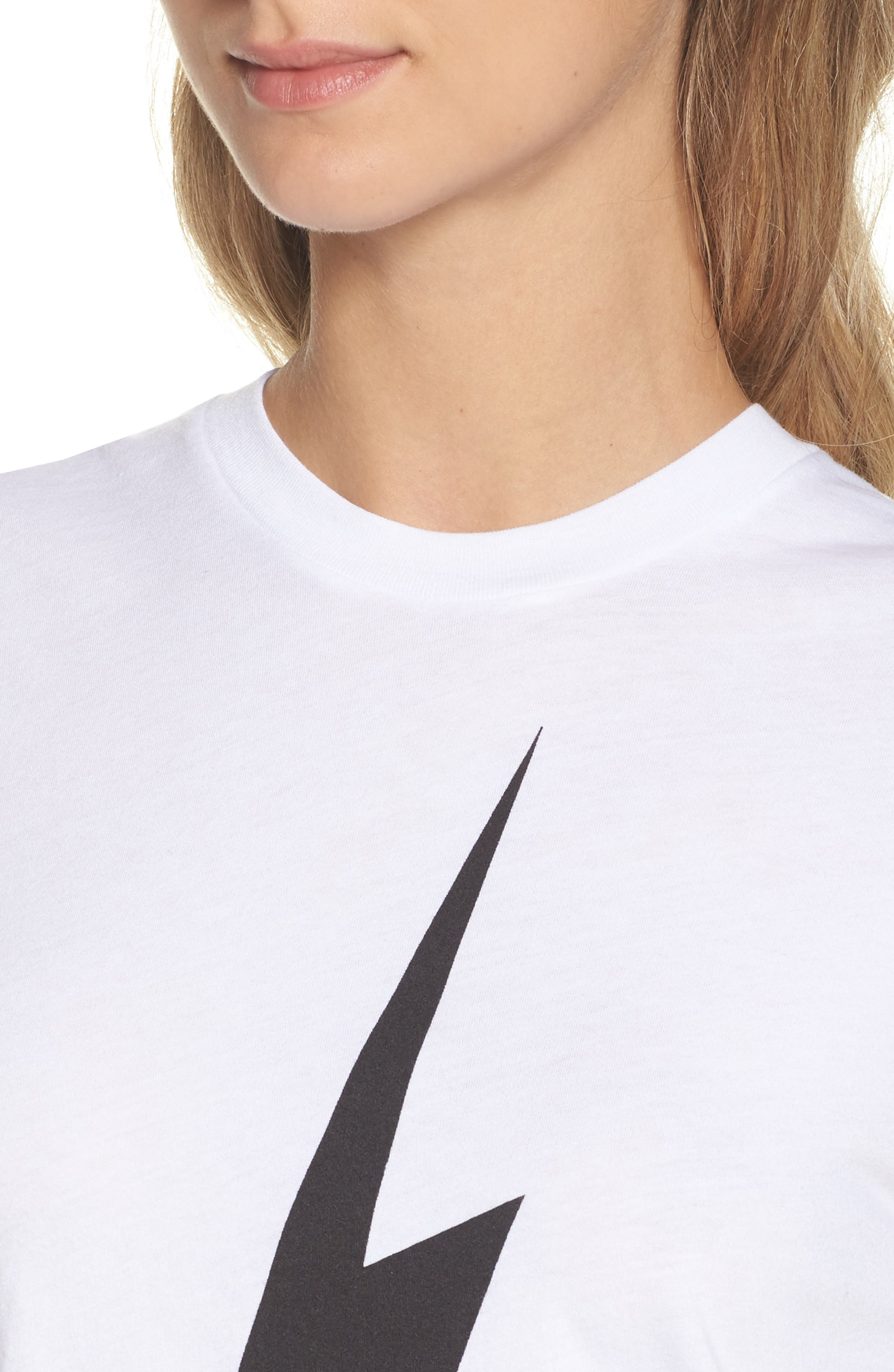 Bolt Crop Tee,                             Alternate thumbnail 4, color,                             WHITE