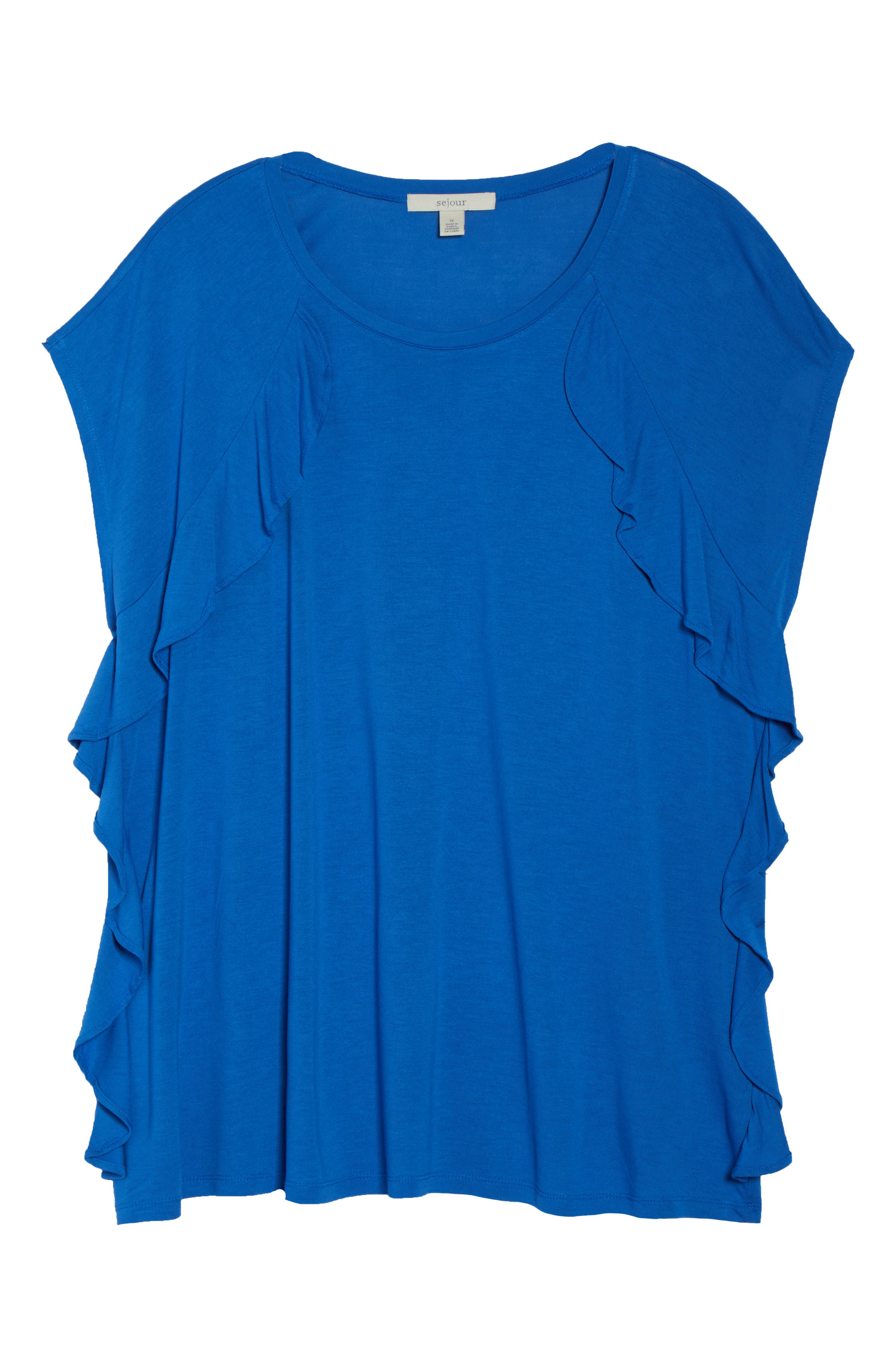 Ruffle Detail Top,                             Alternate thumbnail 24, color,