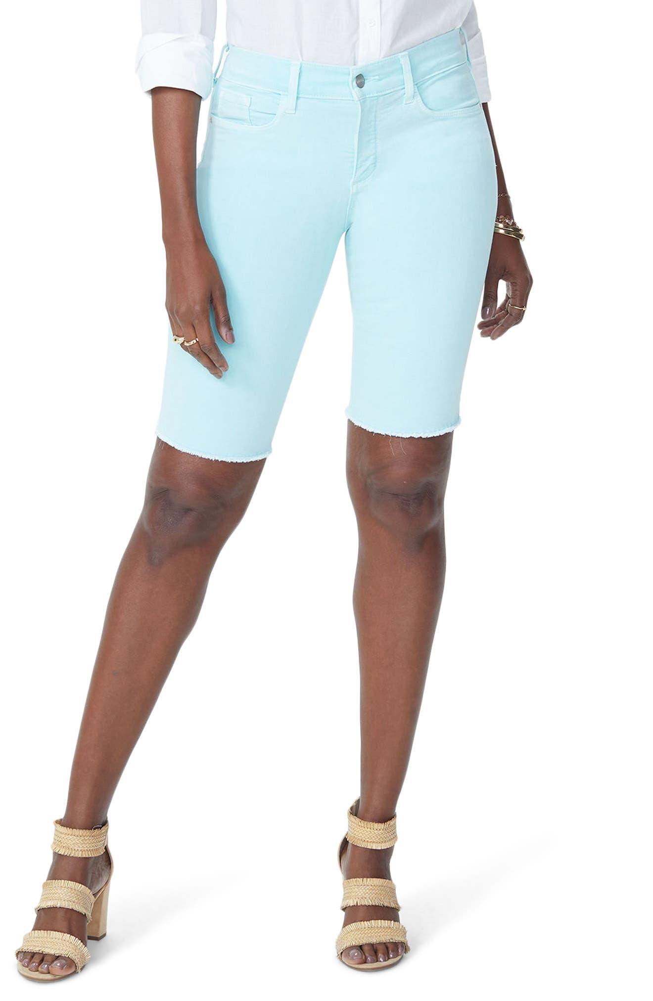 Briella Frayed Hem Bermuda Shorts,                             Main thumbnail 2, color,