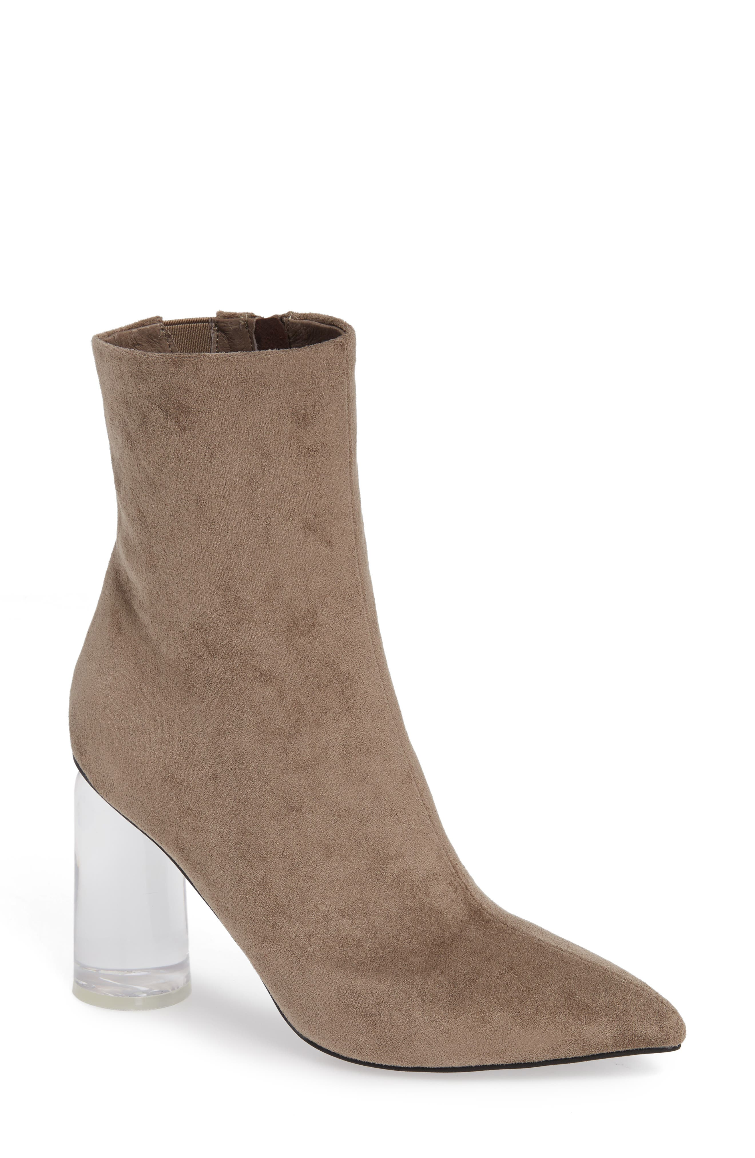Lustful Bootie,                         Main,                         color, TAUPE SUEDE