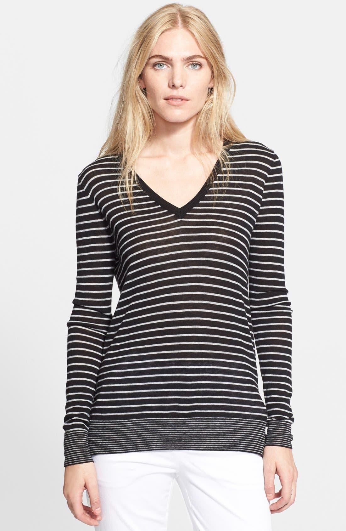 Mini Stripe Sweater,                             Main thumbnail 1, color,                             001