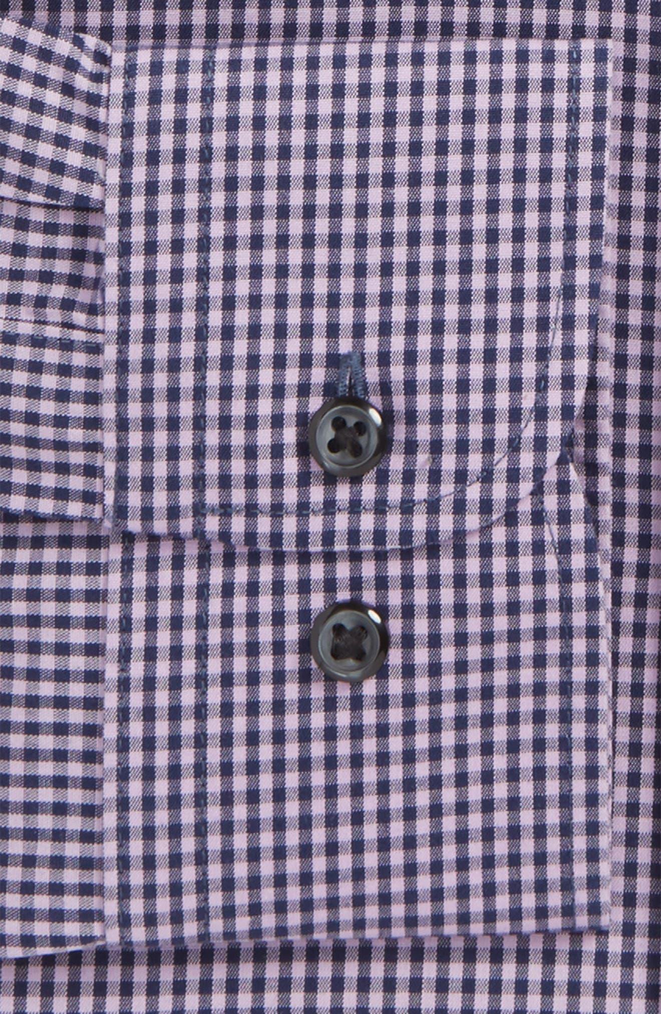 Smartcare<sup>™</sup> Trim Fit Check Dress Shirt,                             Alternate thumbnail 23, color,