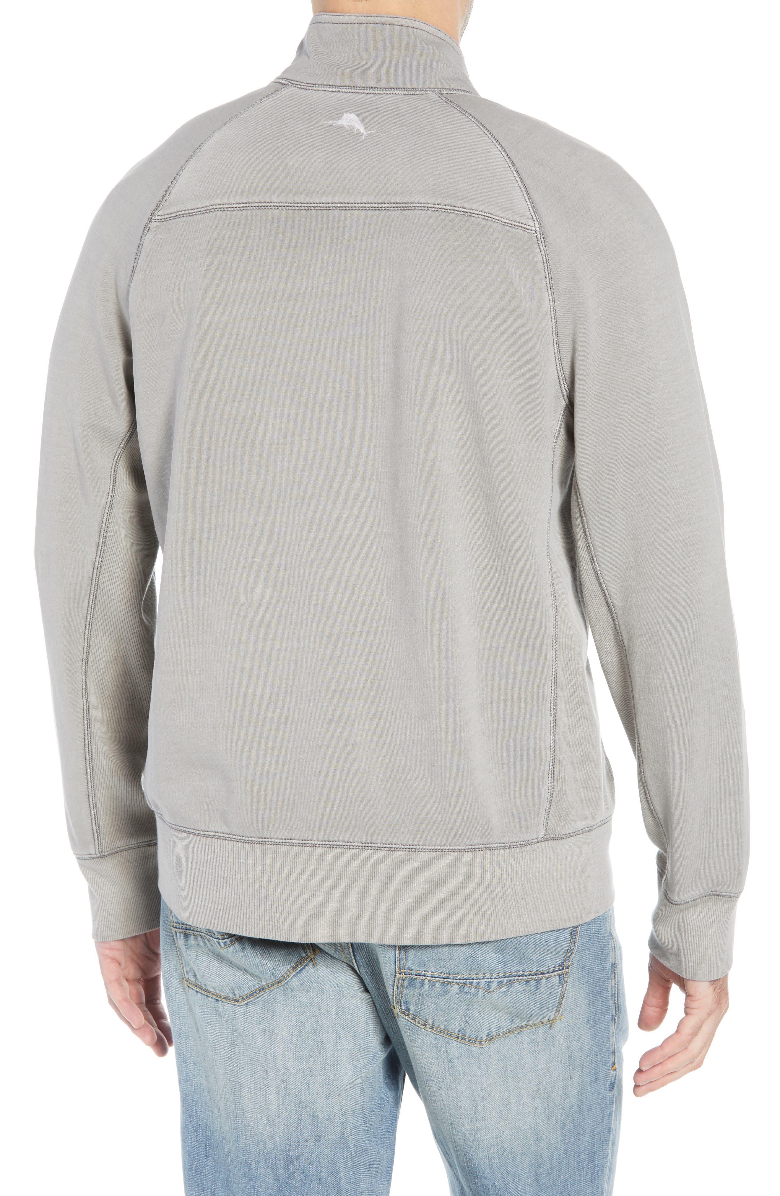Coast Mock Neck Full Zip Sweatshirt,                             Alternate thumbnail 2, color,                             TYPE WRITER
