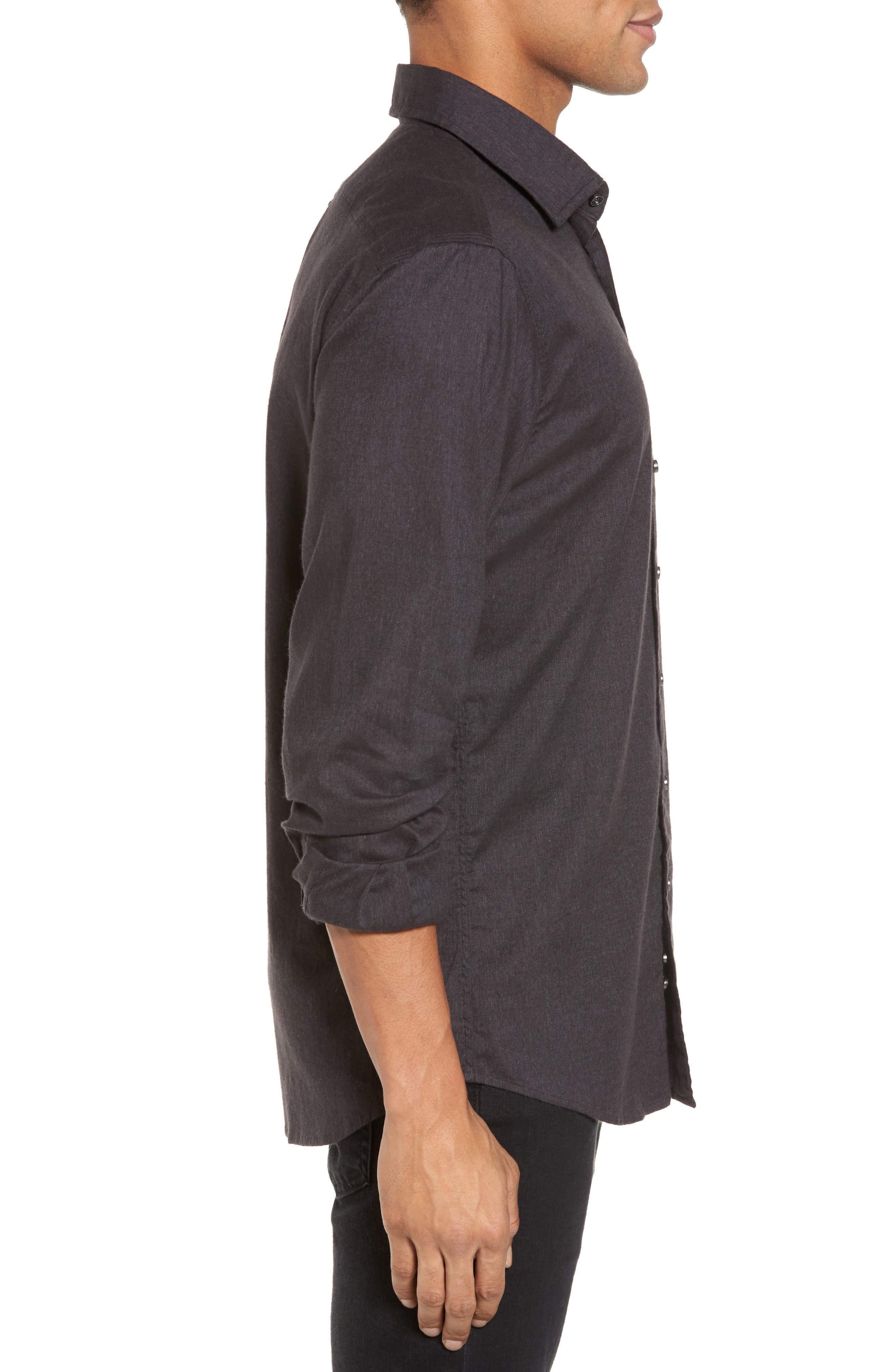'Sinclair' Trim Fit Brushed Twill Sport Shirt,                             Alternate thumbnail 3, color,                             021