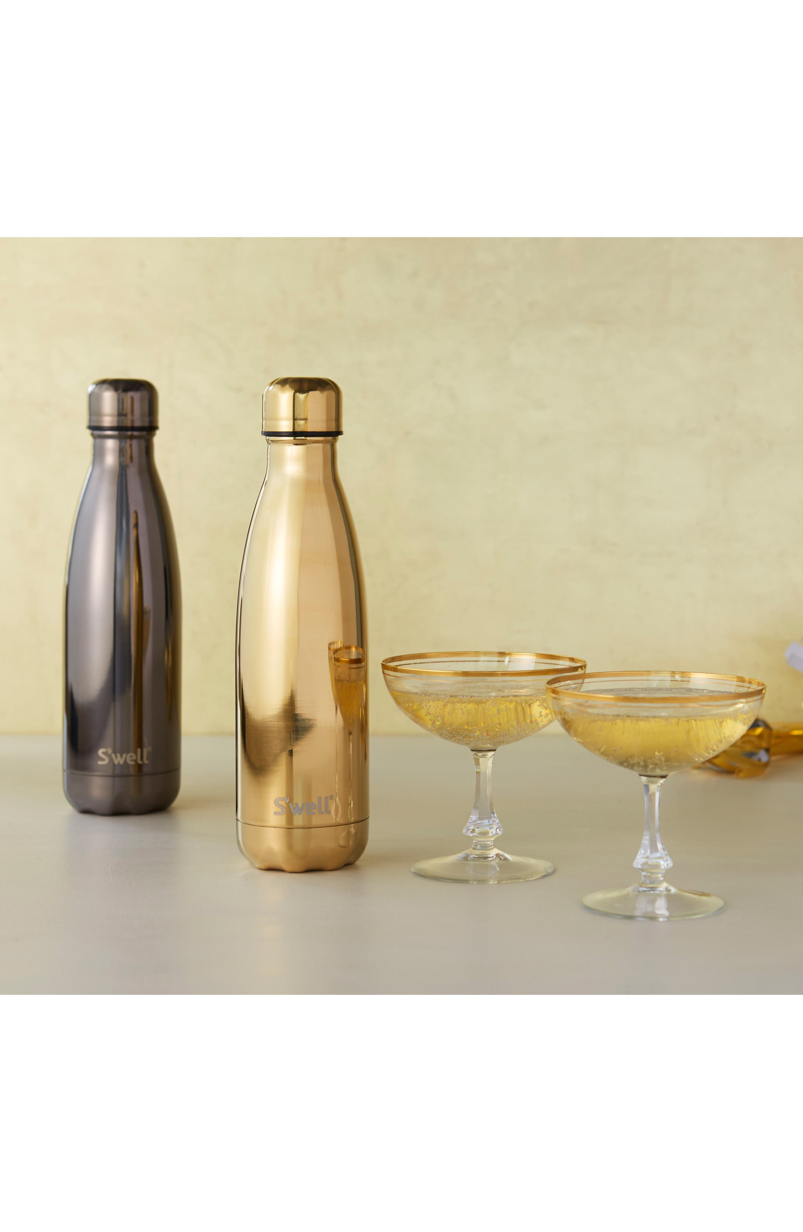 'Metallic Collection - Yellow Gold' Stainless Steel Water Bottle,                             Alternate thumbnail 2, color,