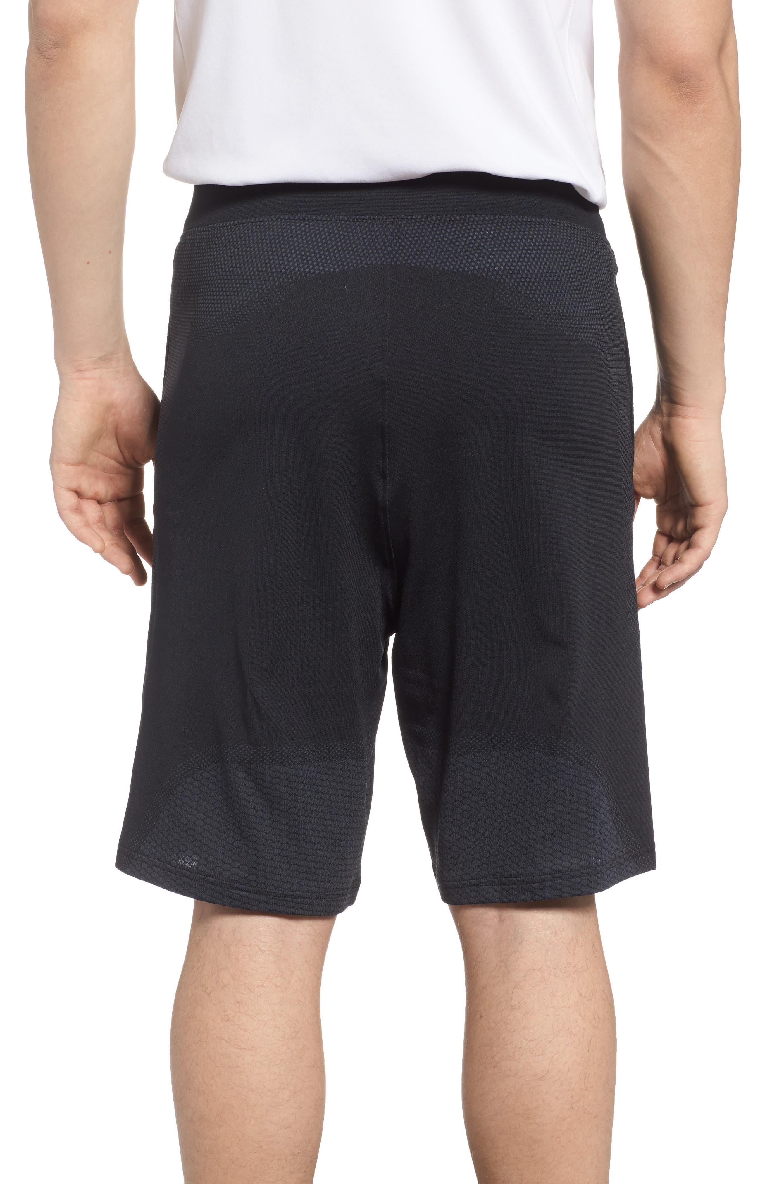 Threadborne Seamless Shorts,                             Alternate thumbnail 2, color,                             BLACK/ STEALTH GREH