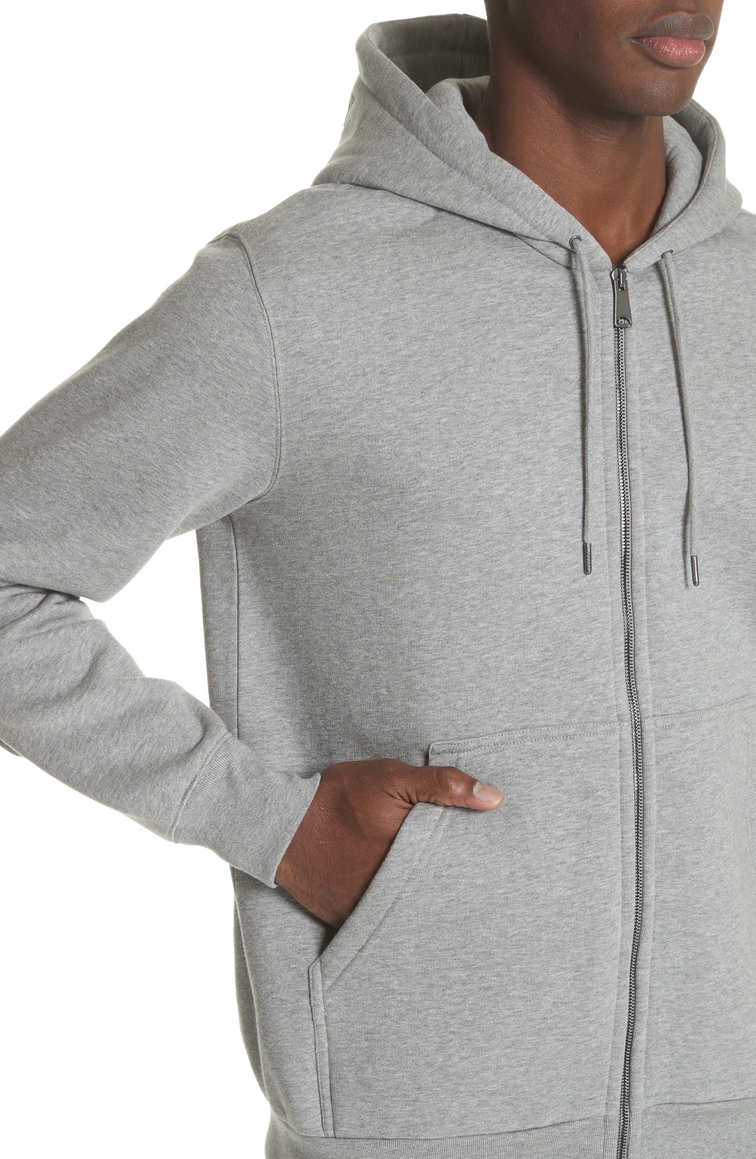 Kenton Regular Fit Full Zip Fleece Hoodie,                             Alternate thumbnail 4, color,                             050