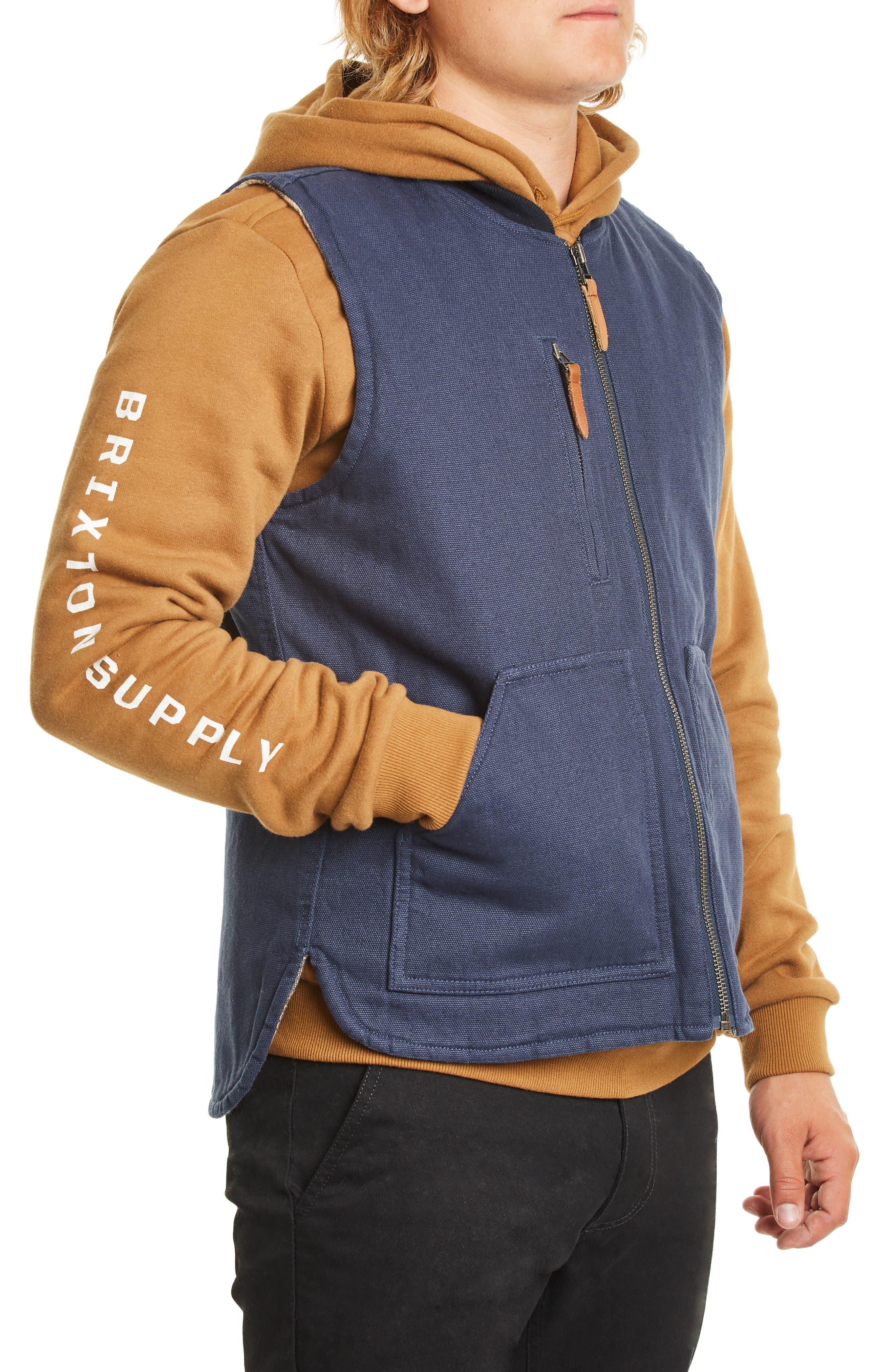 Abraham Water Resistant Vest,                             Alternate thumbnail 3, color,                             WASHED NAVY