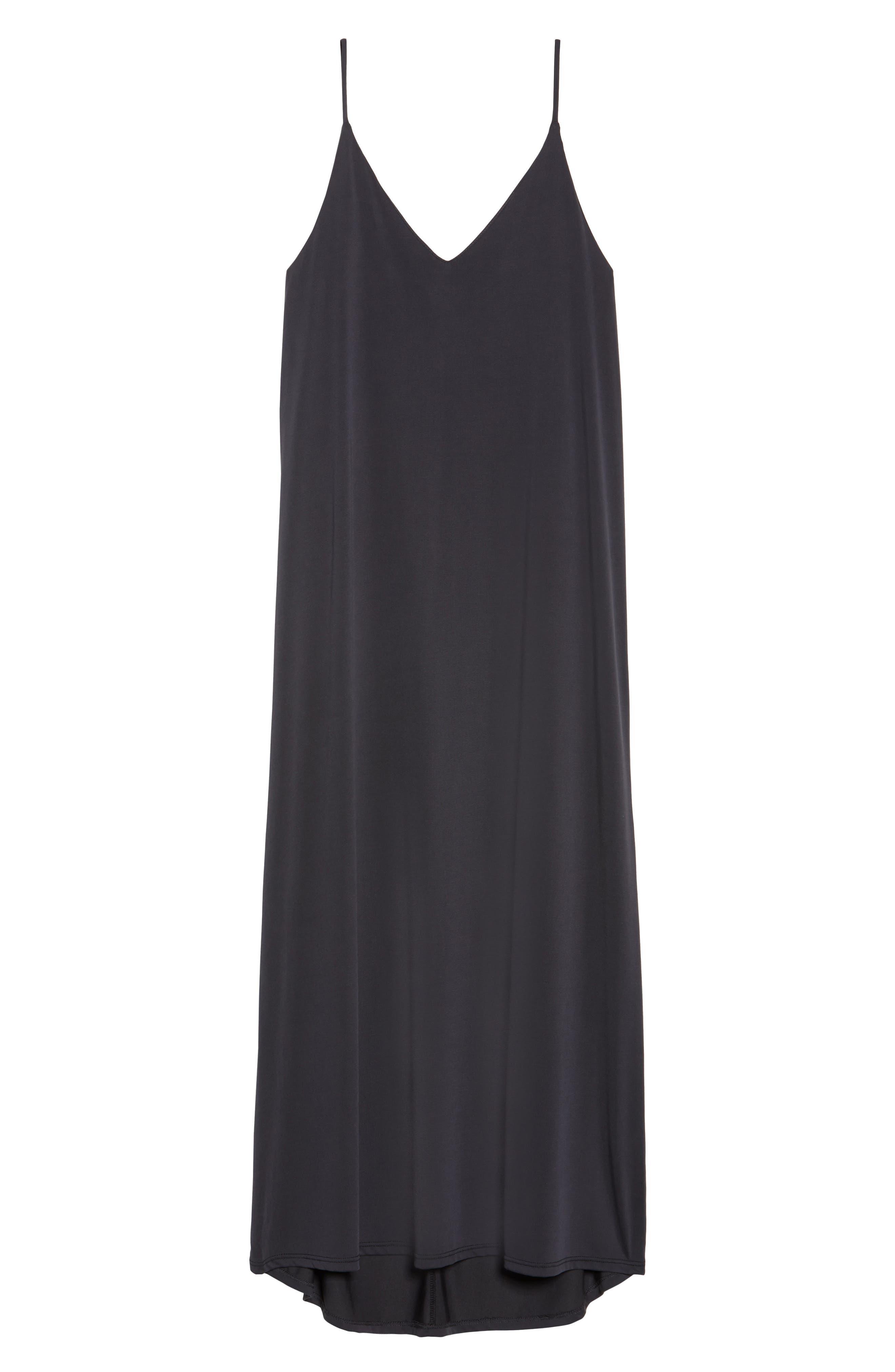 Knit Maxi Dress,                             Alternate thumbnail 6, color,                             002