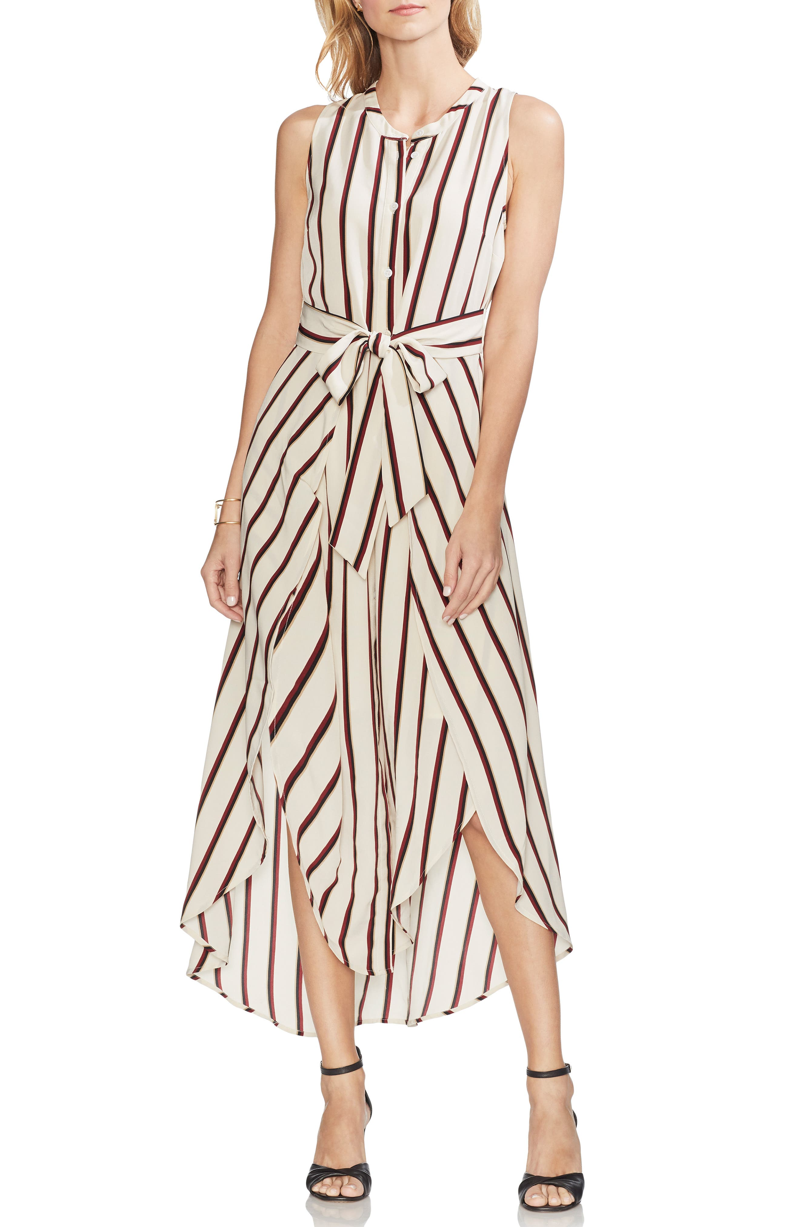 Vince Camuto Caravan Stripe Maxi Dress, Beige