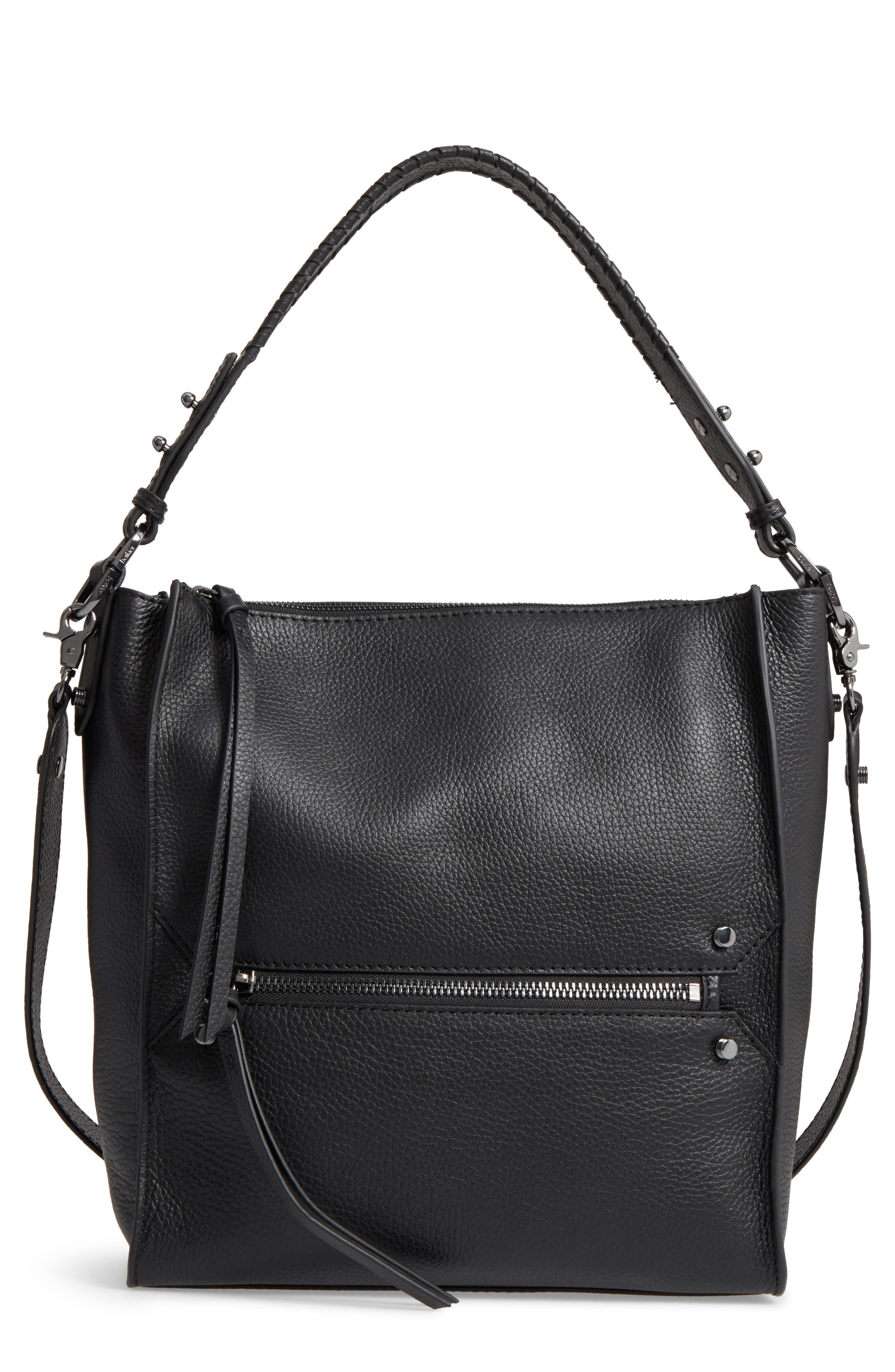 Large Paloma Leather Hobo,                             Main thumbnail 1, color,                             001