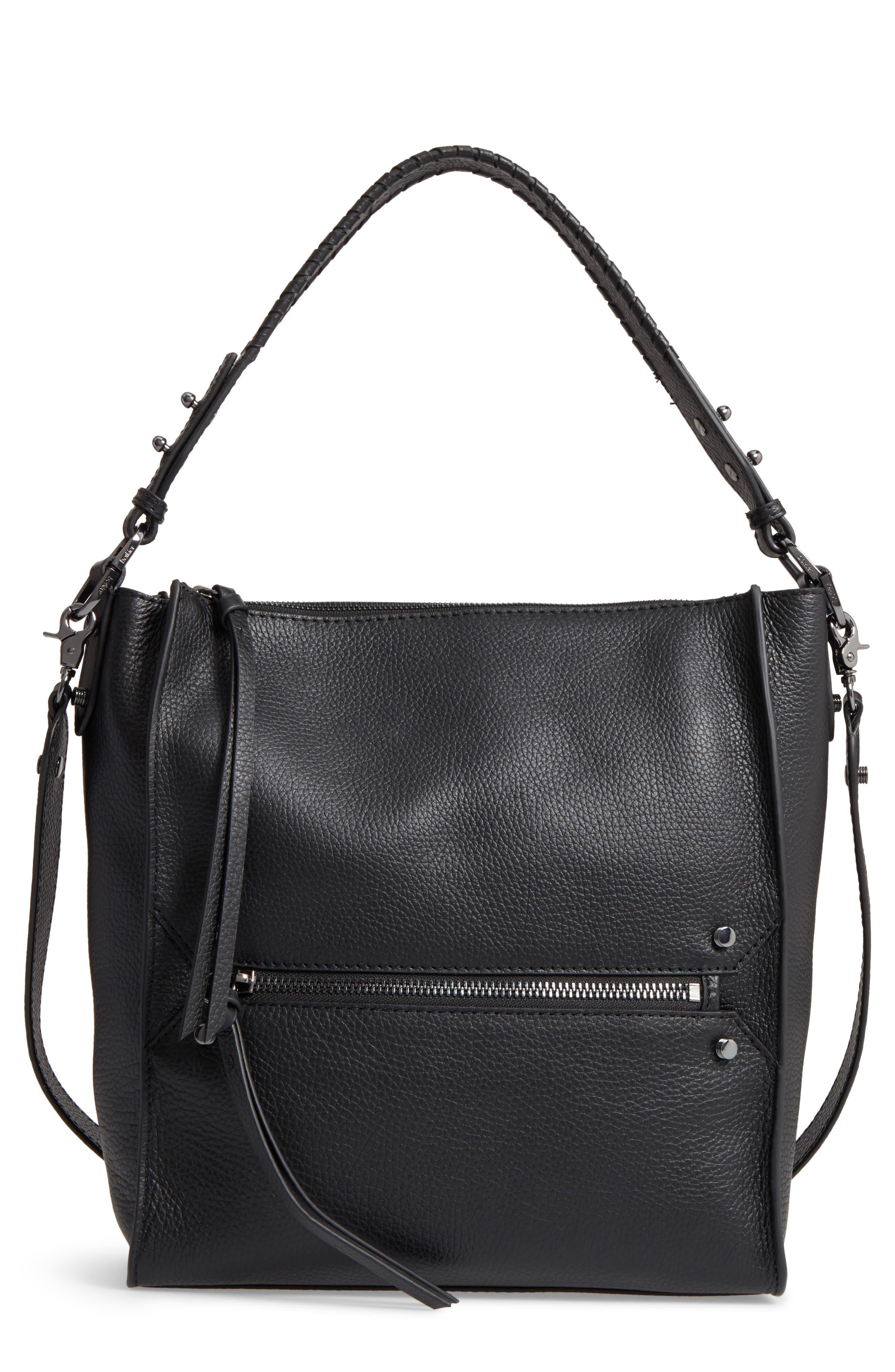 Large Paloma Leather Hobo,                         Main,                         color, 001