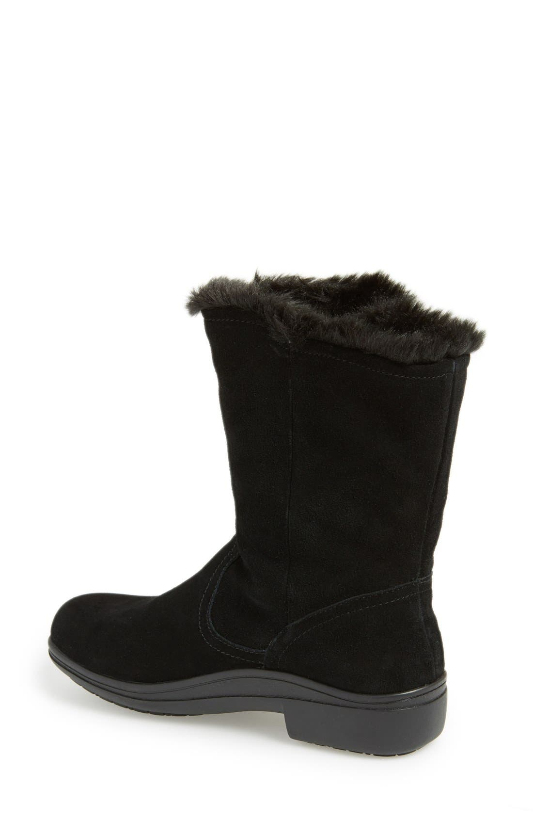 'Nanook' Suede Boot,                             Alternate thumbnail 4, color,                             001