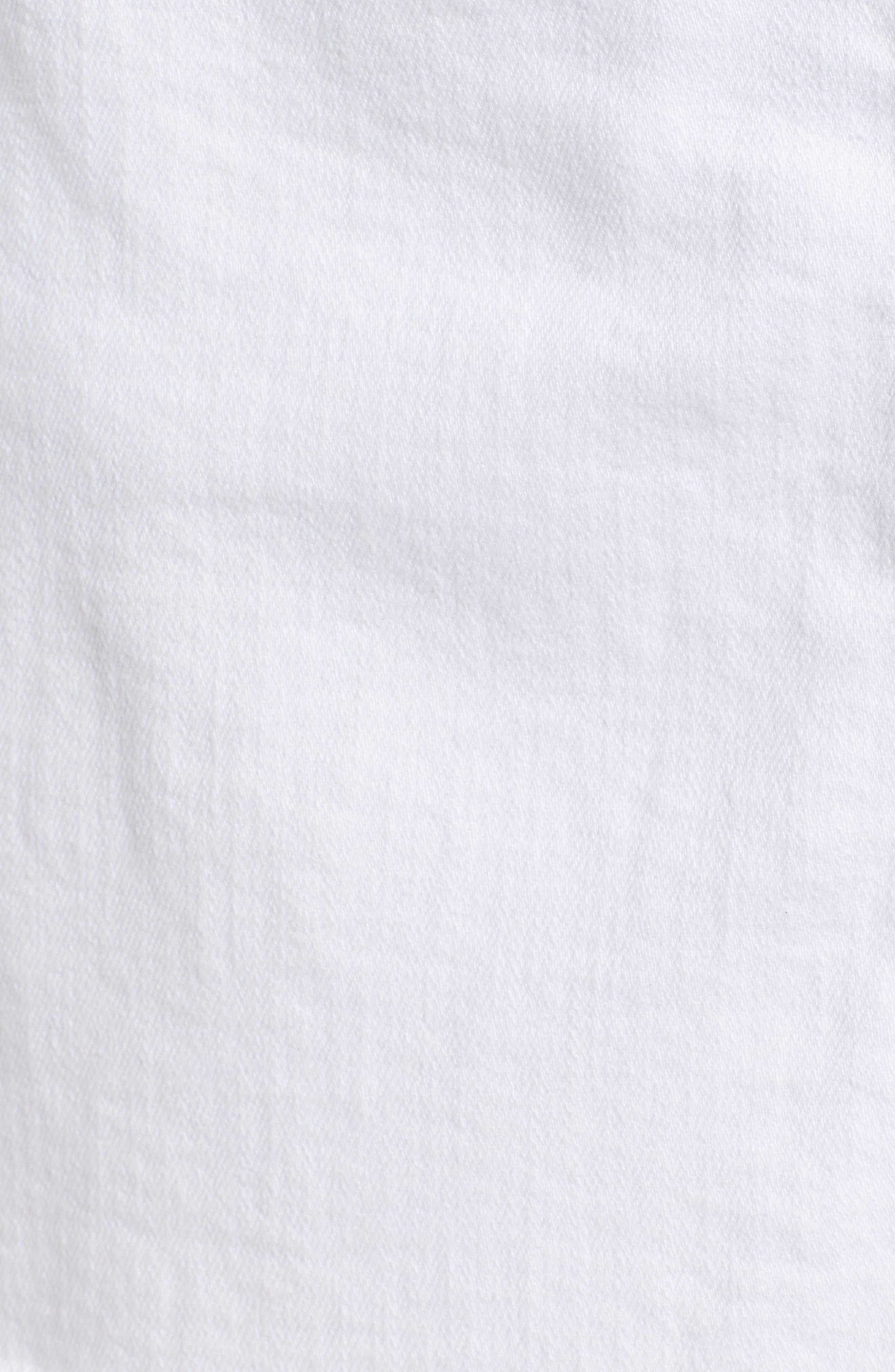 Izabel Angled Hem Denim Skirt,                             Alternate thumbnail 6, color,                             WHITE LIE