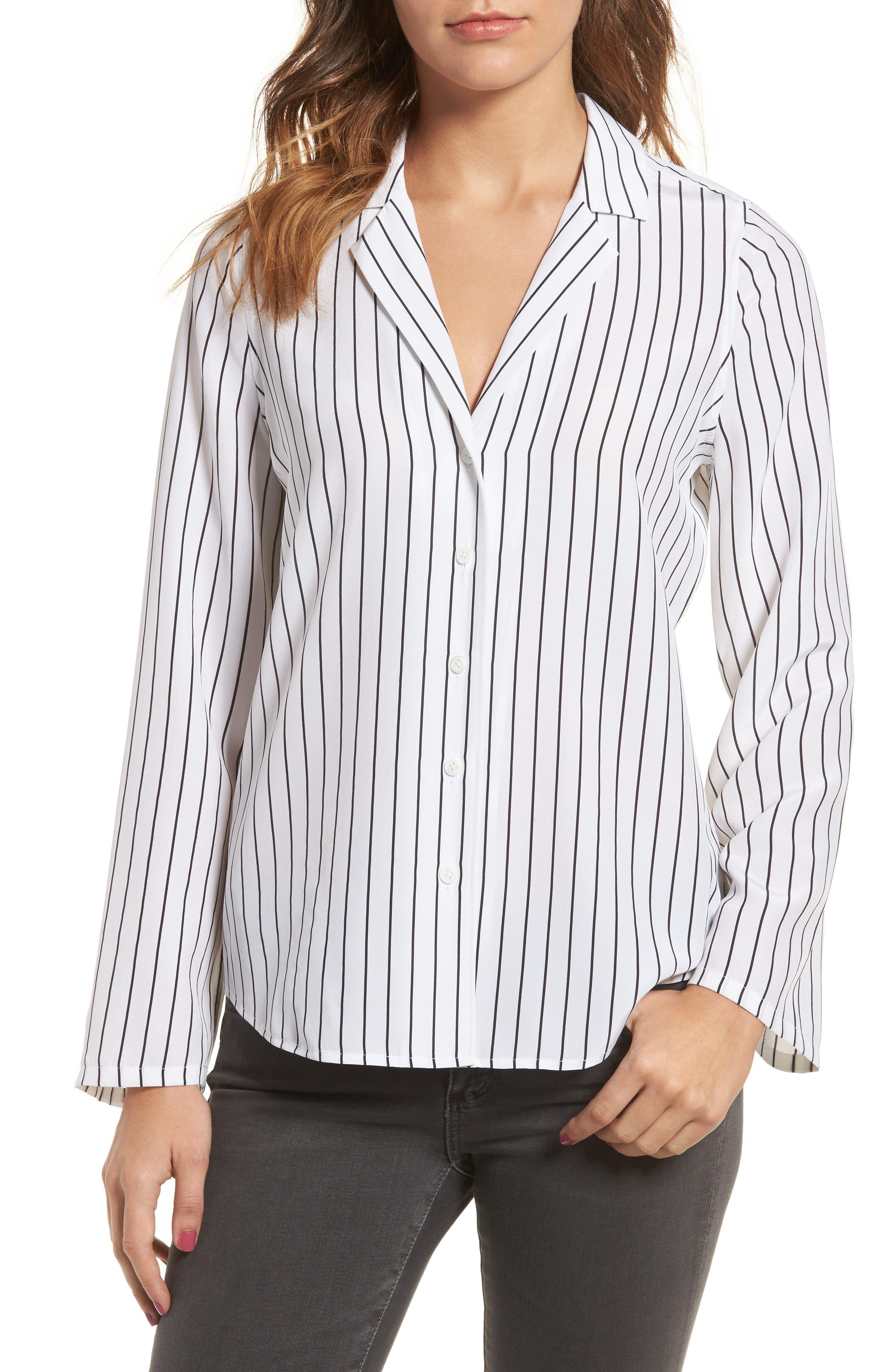 Avery Silk Shirt,                         Main,                         color, 115