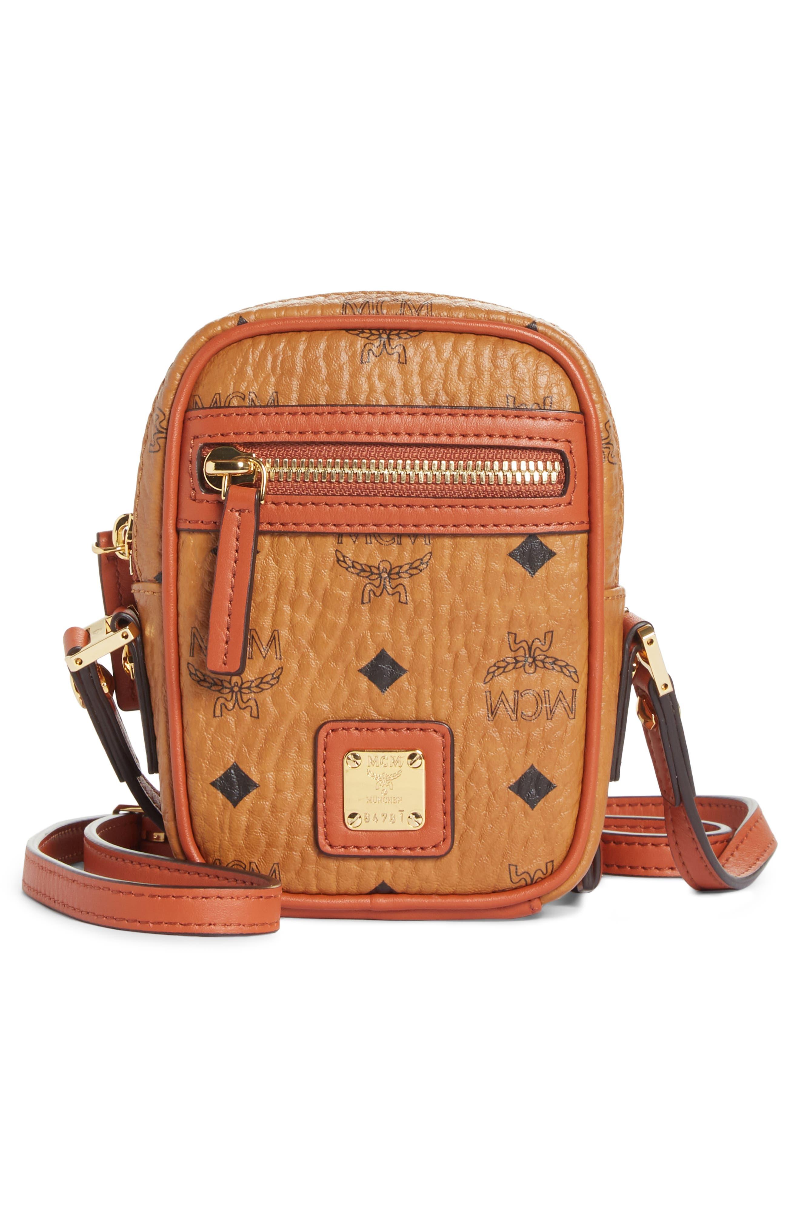 Mini Vintage Crossbody Bag,                             Main thumbnail 1, color,                             COGNAC