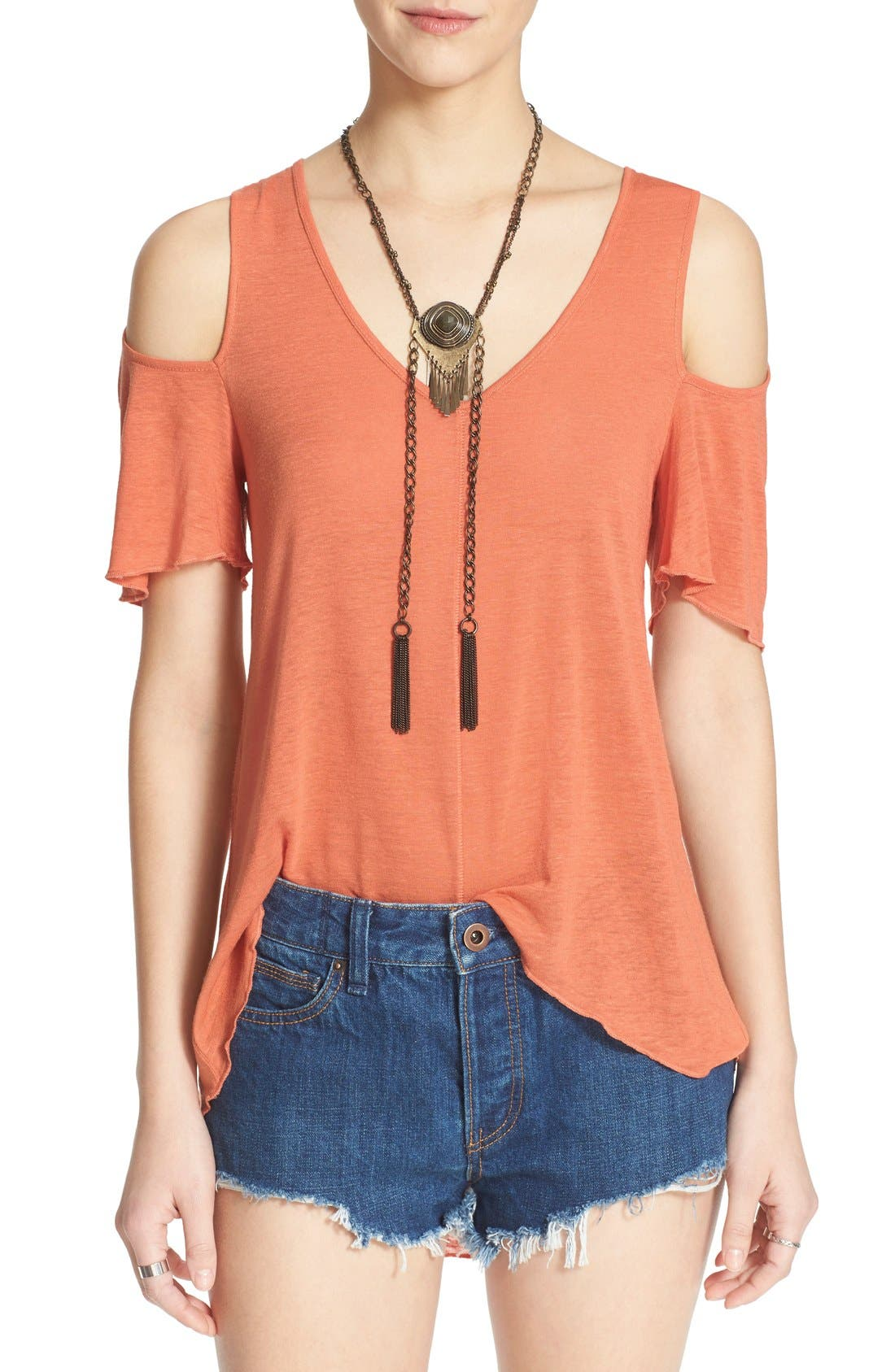 Bittersweet Cold Shoulder Top,                             Main thumbnail 10, color,