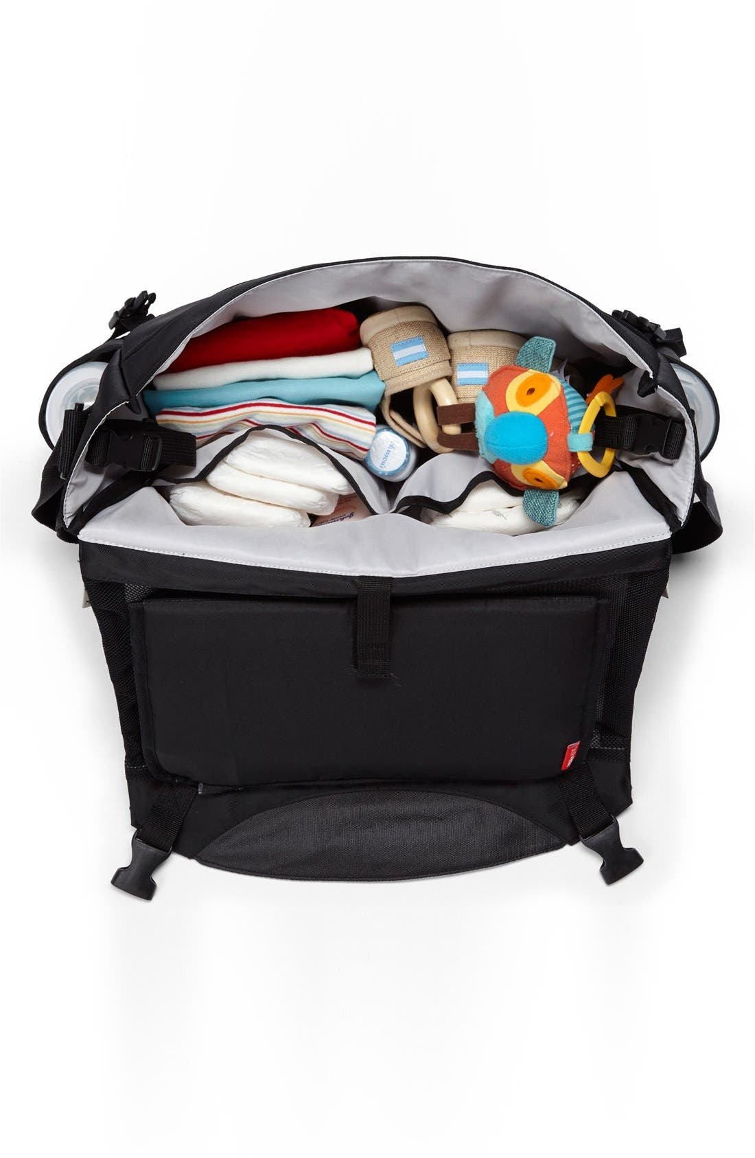 'Swift' Changing Station Diaper Bag,                             Alternate thumbnail 6, color,                             001