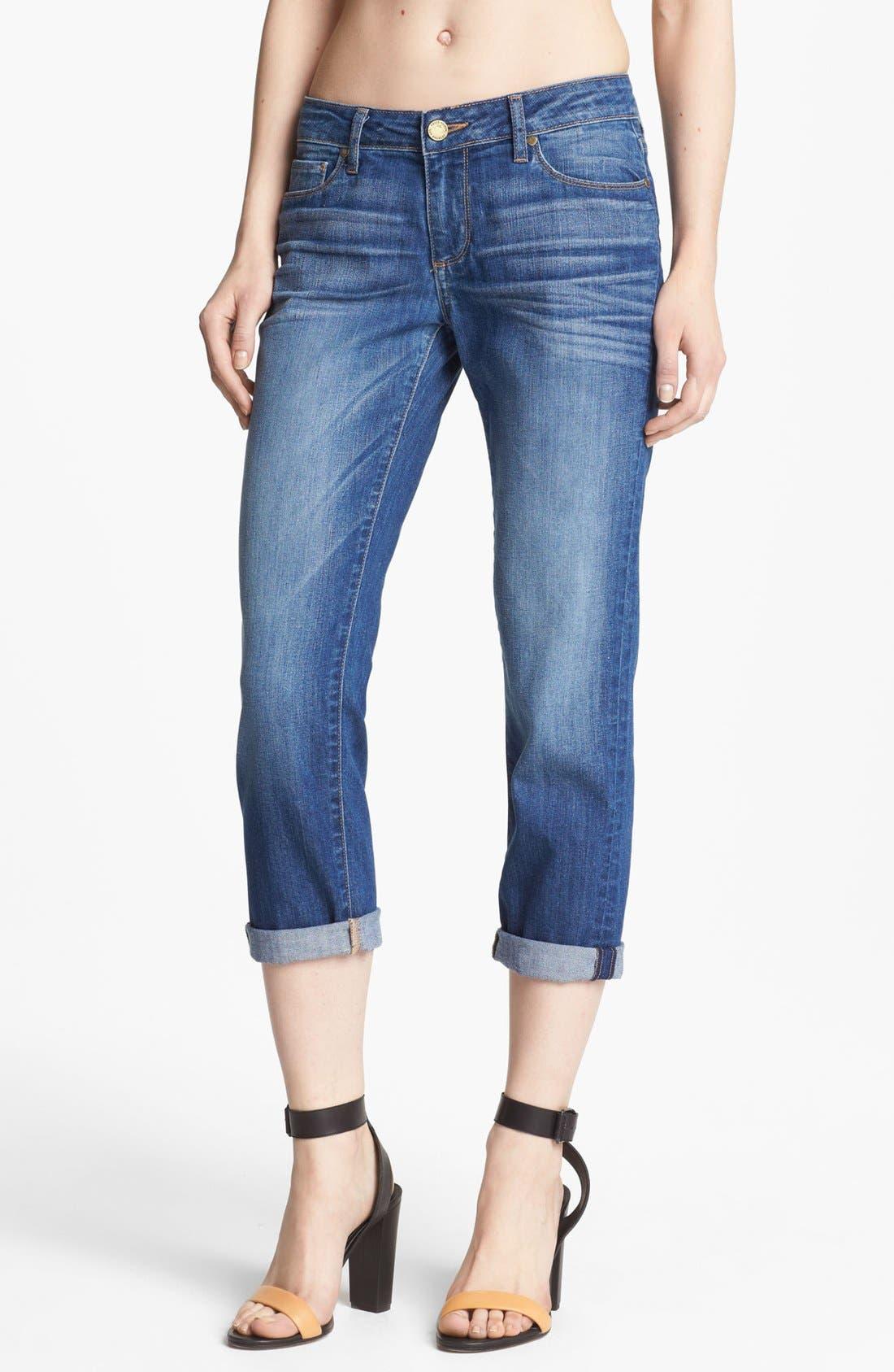 Denim 'James' Crop Jeans,                             Main thumbnail 1, color,