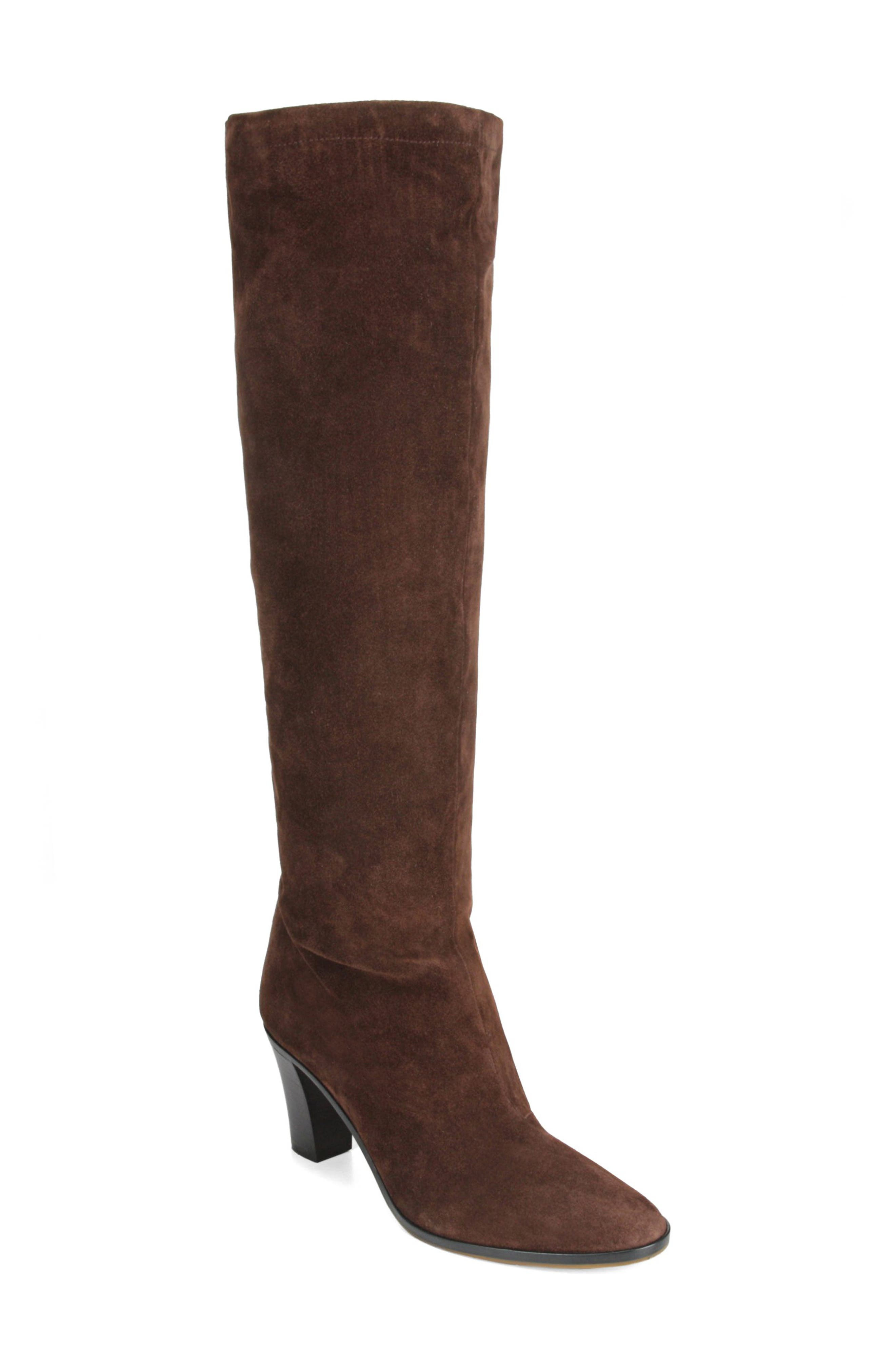 Casper Knee High Pull-On Boot,                             Main thumbnail 1, color,                             COTTO BROWN