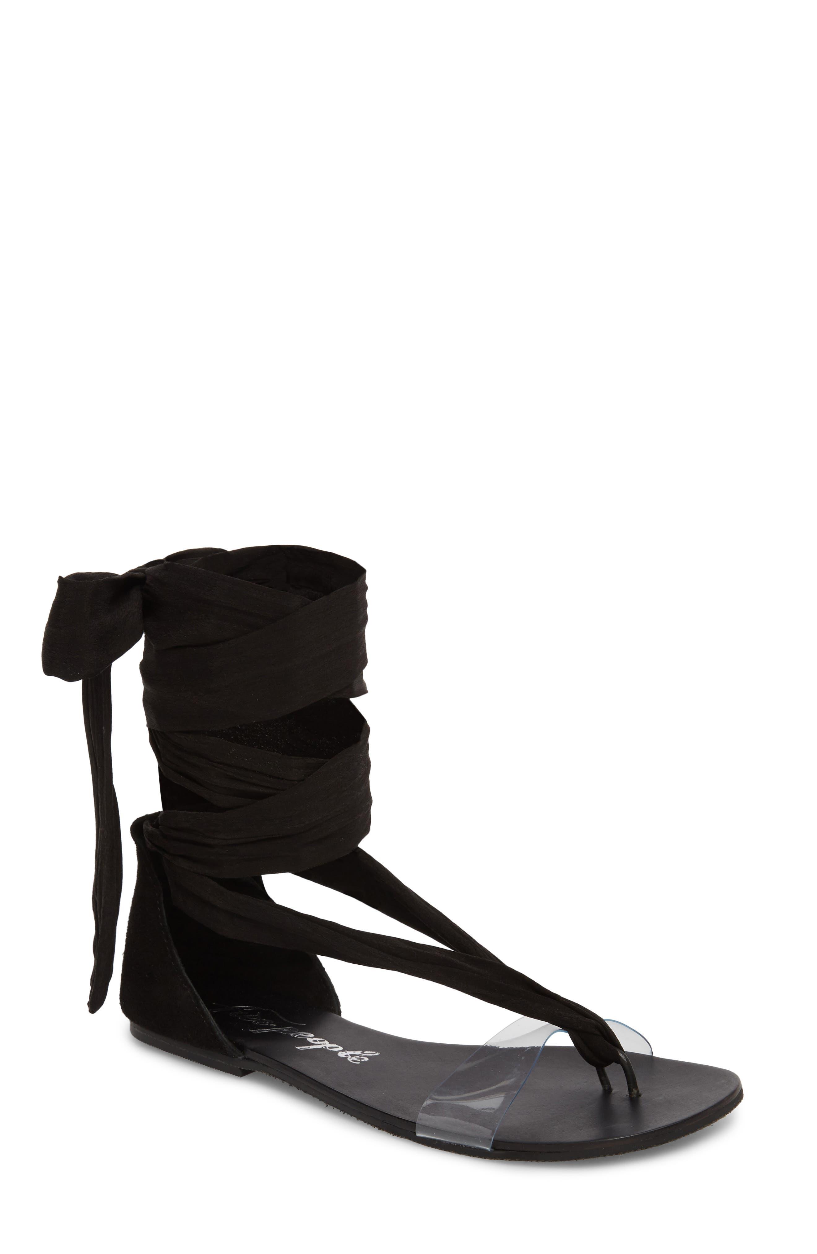 Barcelona Wrap Sandal,                         Main,                         color, 001