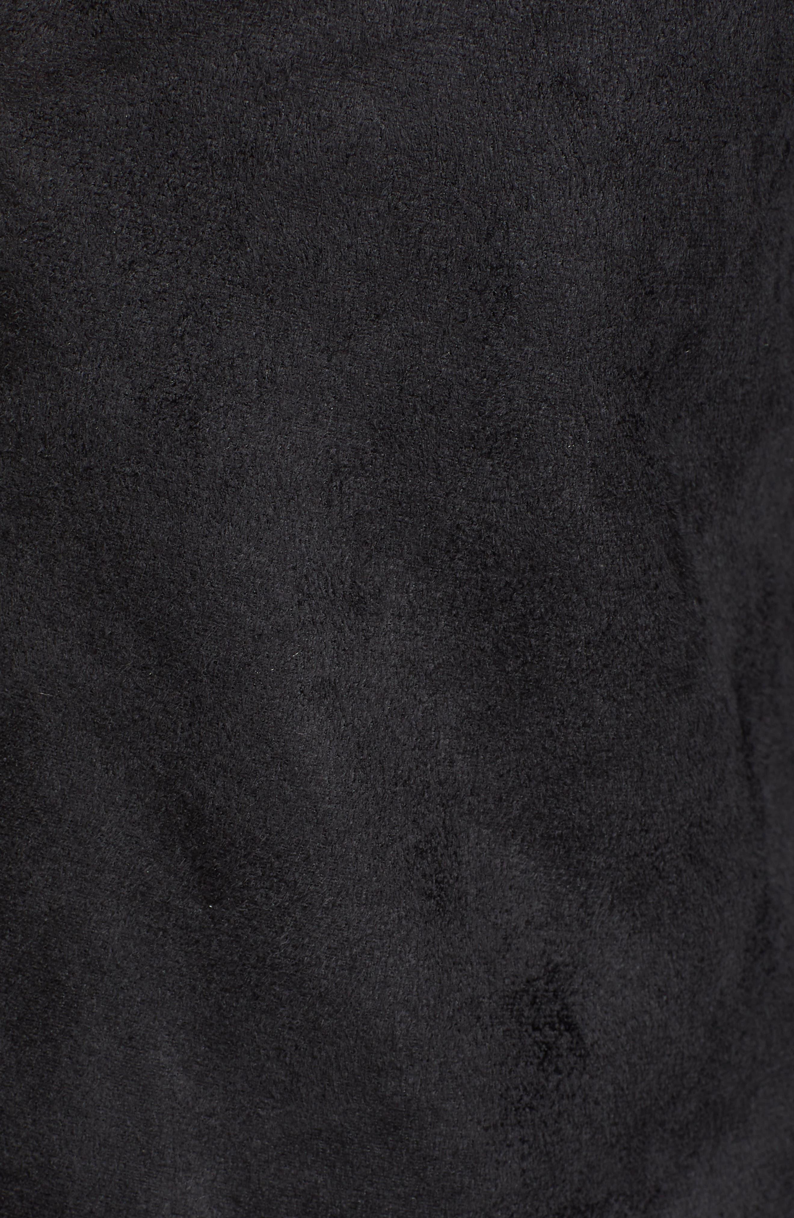 Faux Shearling Jacket,                             Alternate thumbnail 7, color,                             001