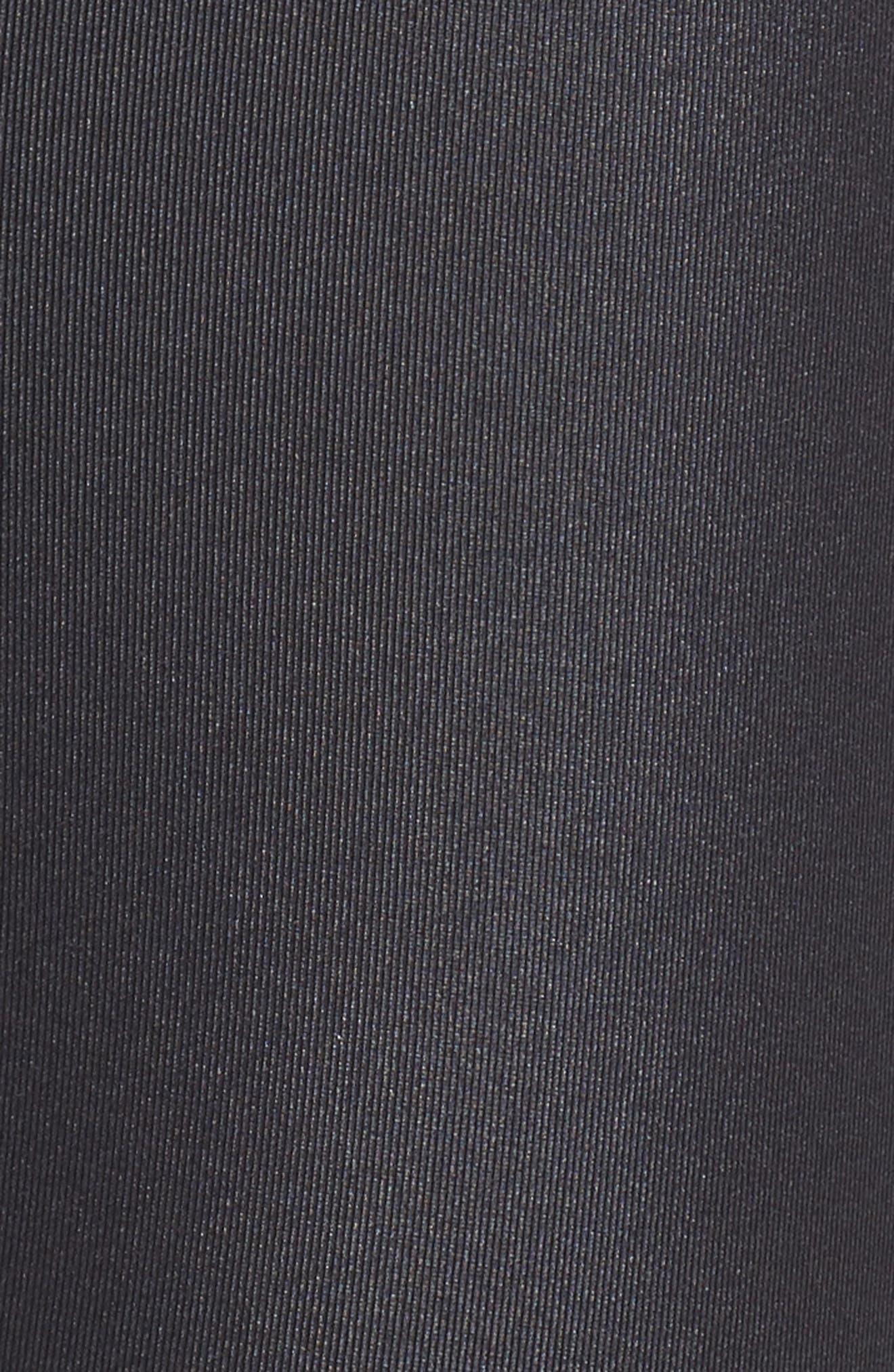 High Waist Airbrush Midi Leggings,                             Alternate thumbnail 6, color,                             BLACK GLOSSY