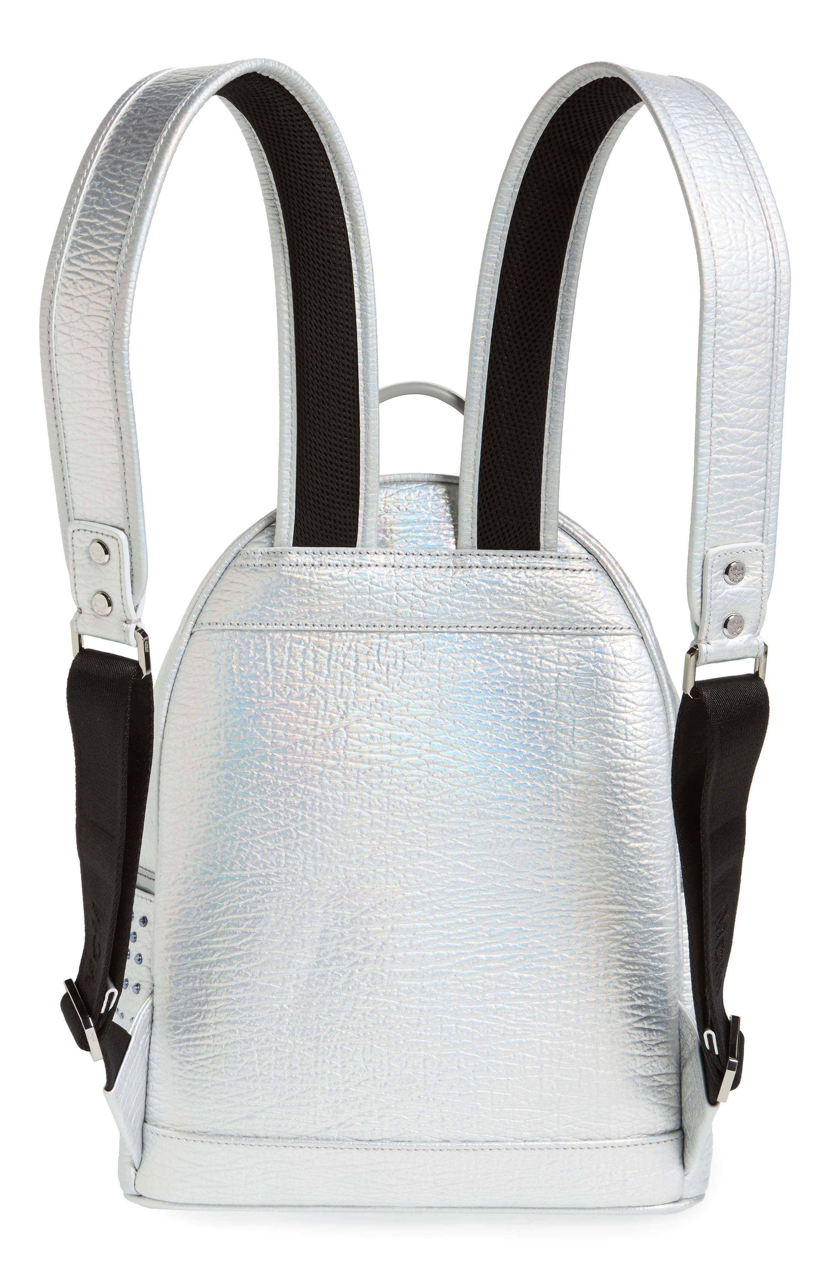 Dual Stark Studded Leather Backpack,                             Alternate thumbnail 6, color,