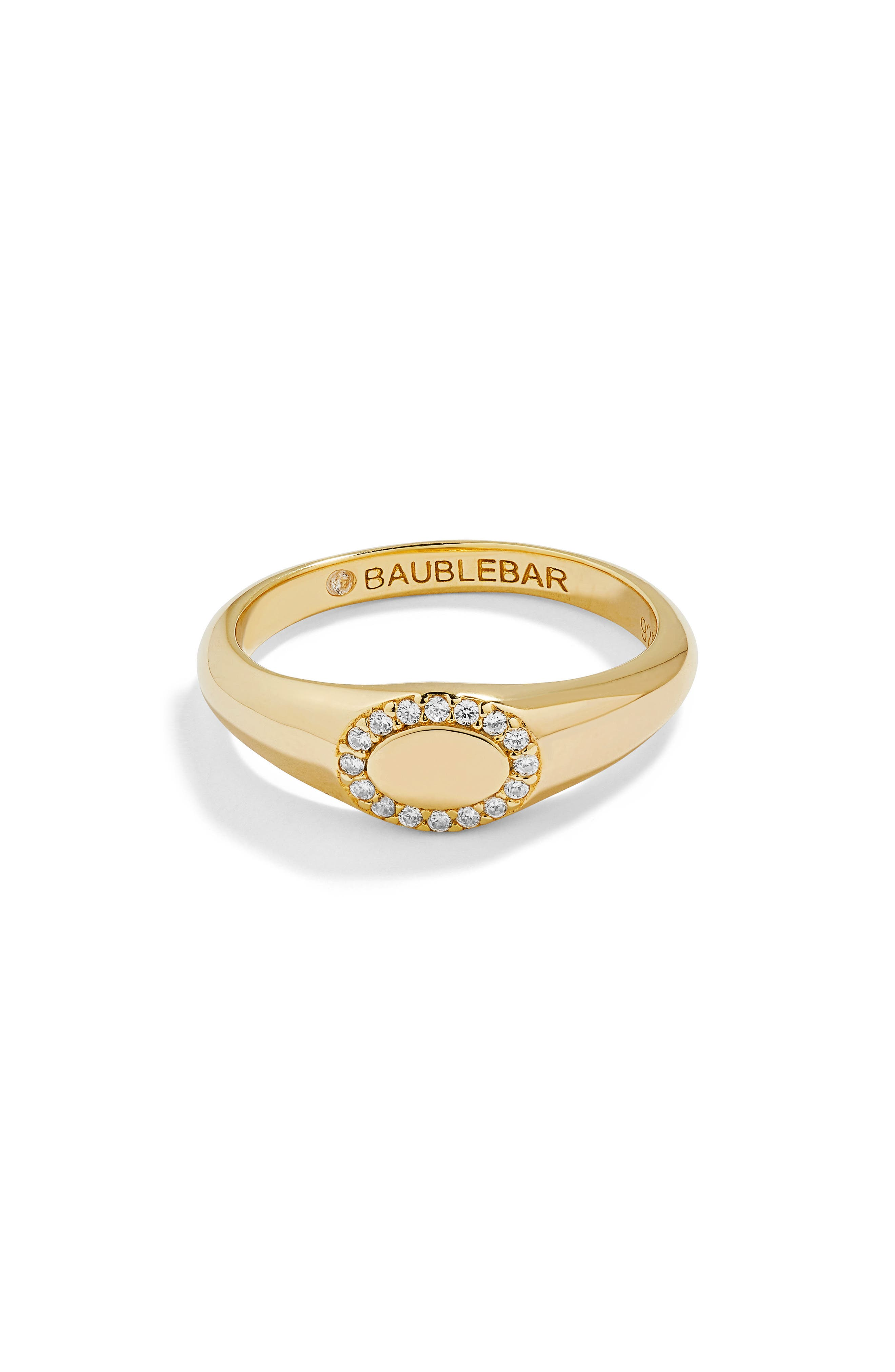 Oval Pavé Statement Ring,                         Main,                         color, GOLD